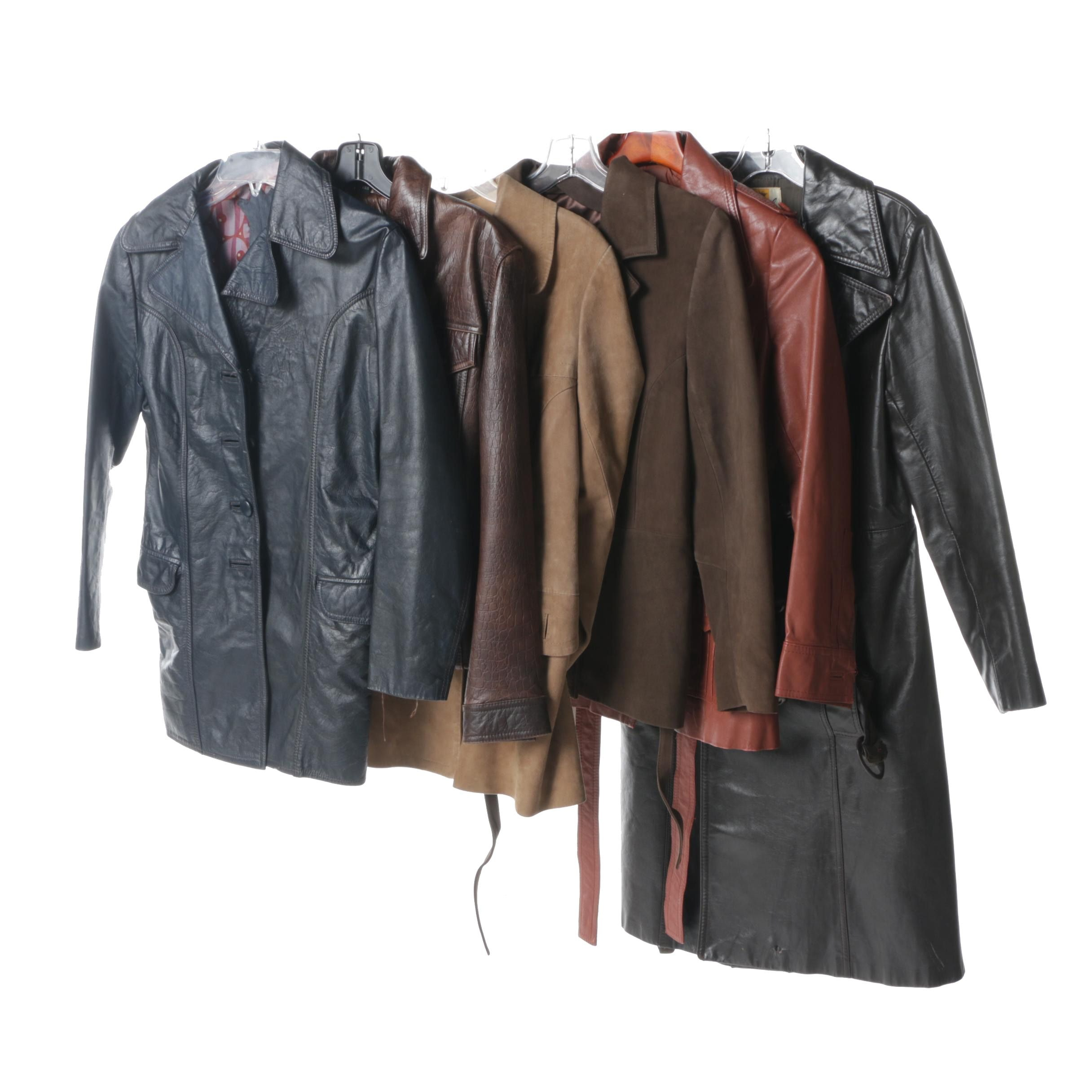 Women's 1970s and 1980s Leather and Suede Coats Including Imperial