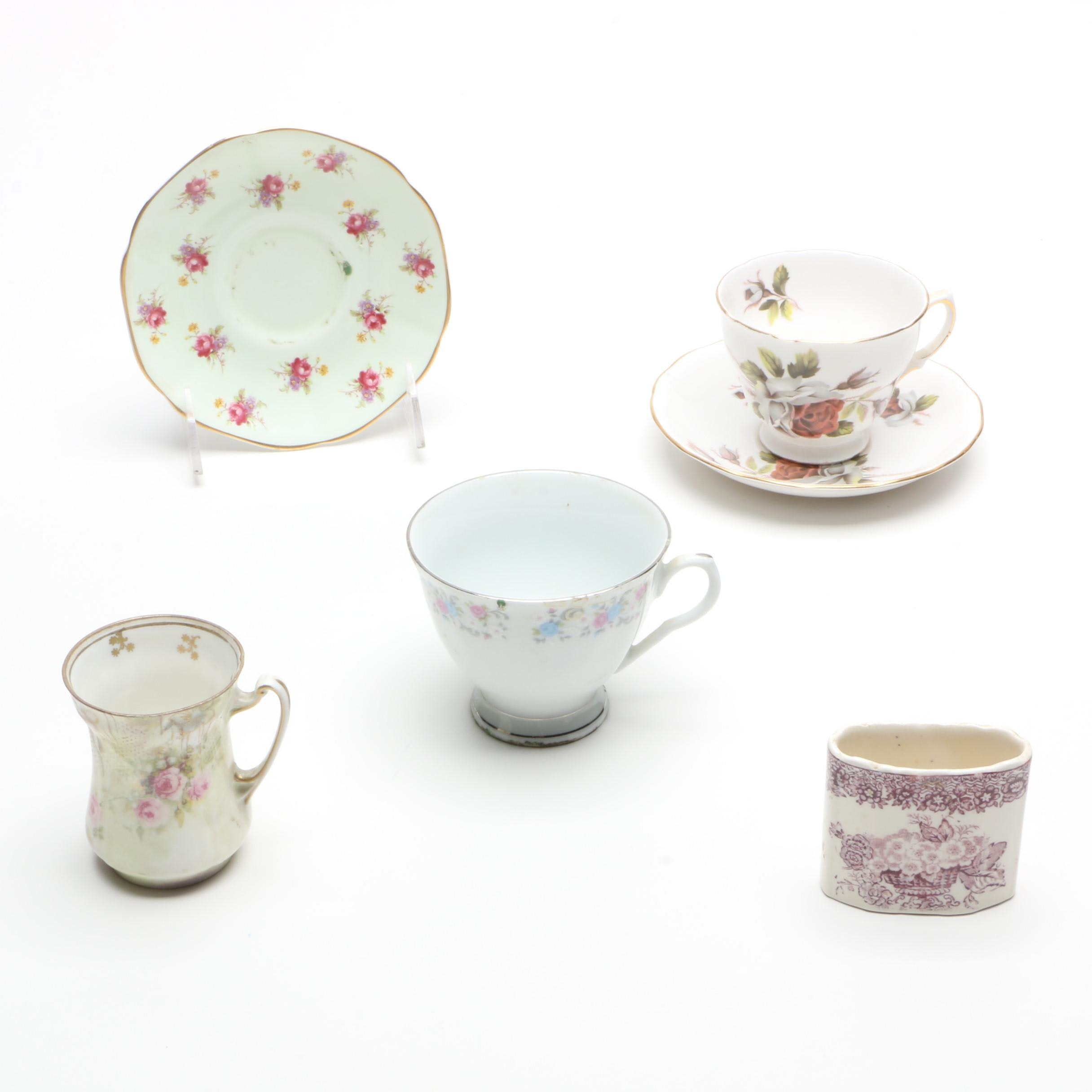 Porcelain Tableware Including R.S. Prussia
