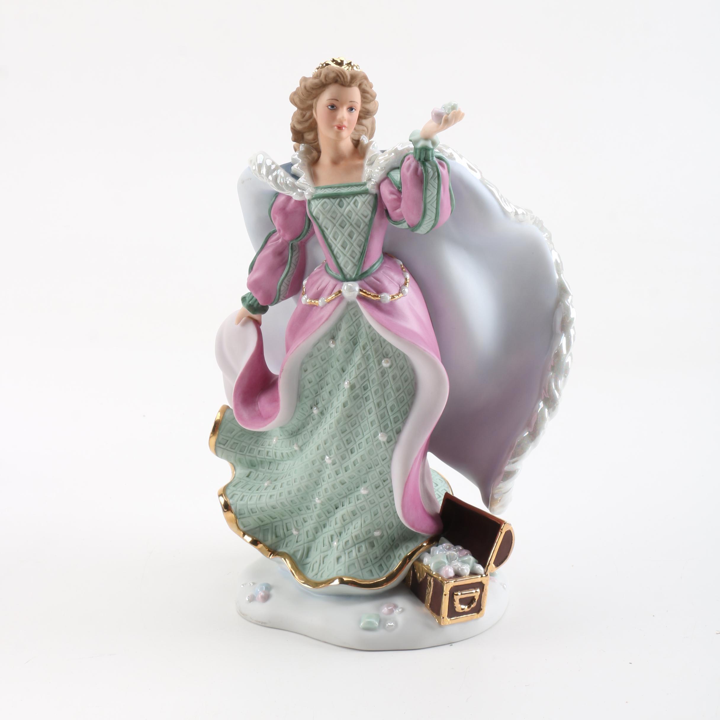 """Lenox Porcelain """"Lara"""" 2001 Christmas Princess Figurine"""