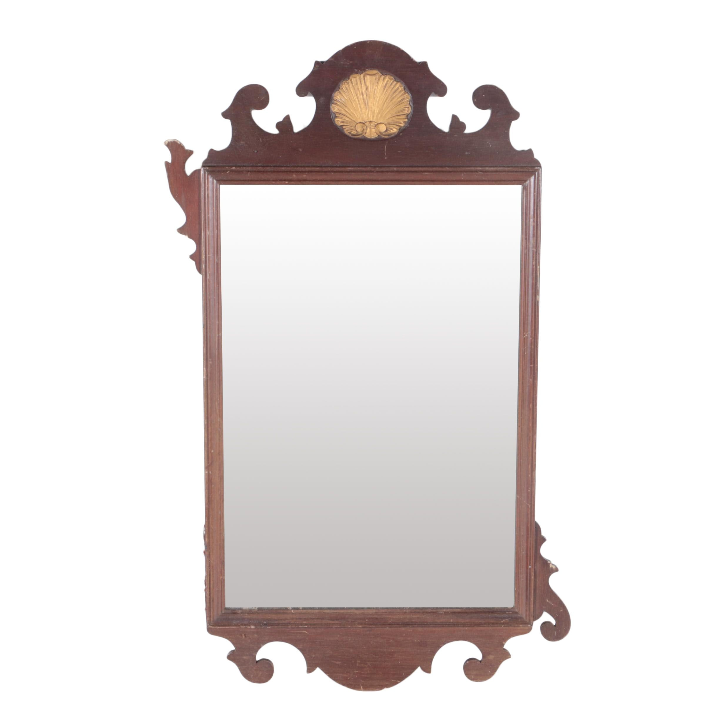 Chippendale Style Wood Framed Wall Mirror