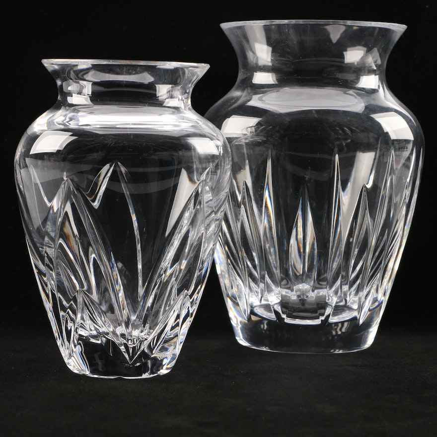 Waterford Crystal And Rogaska Soho Vases Ebth