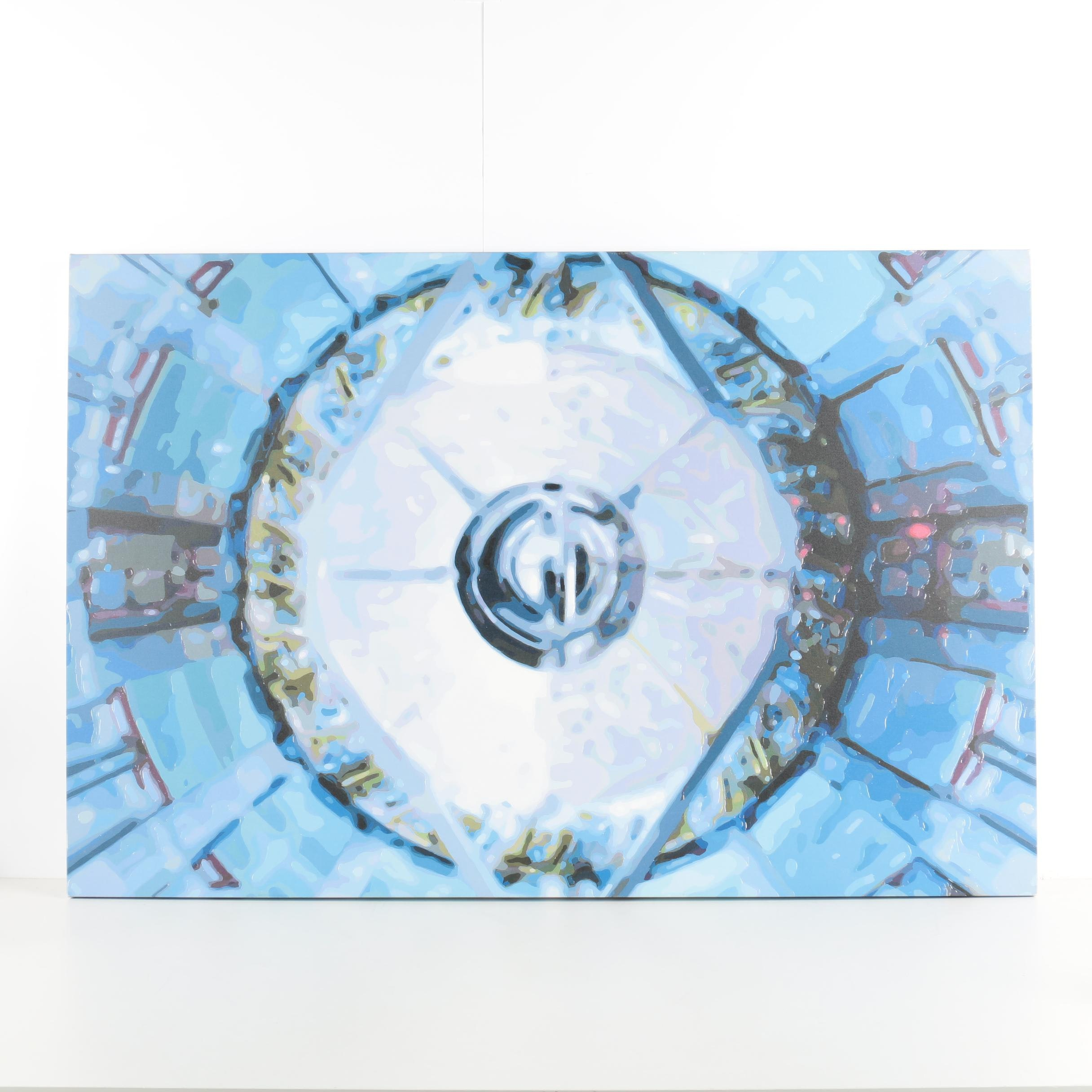 "Reproduction Print on Canvas After Timothy Thompkins ""Super Collider v.11"""