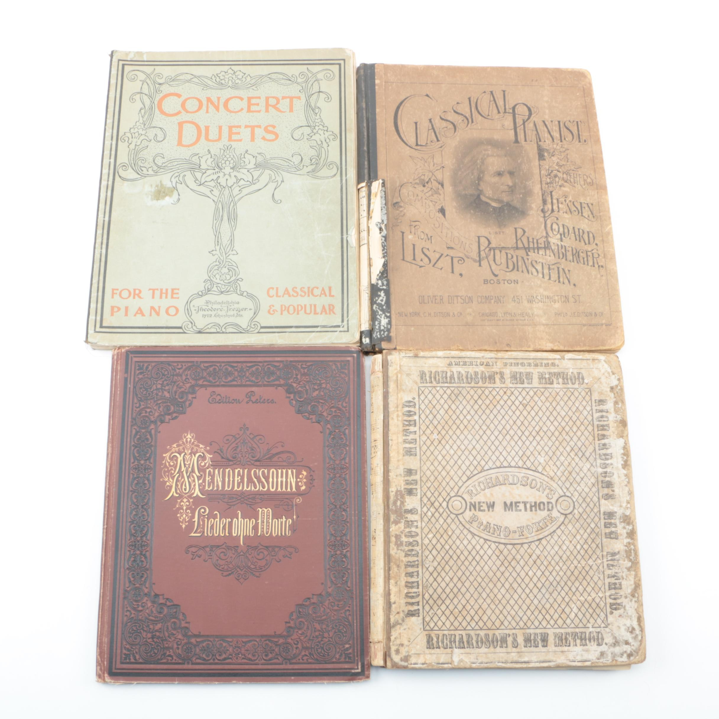 Vintage Classical Sheet Music Books, Including Mendelssohn