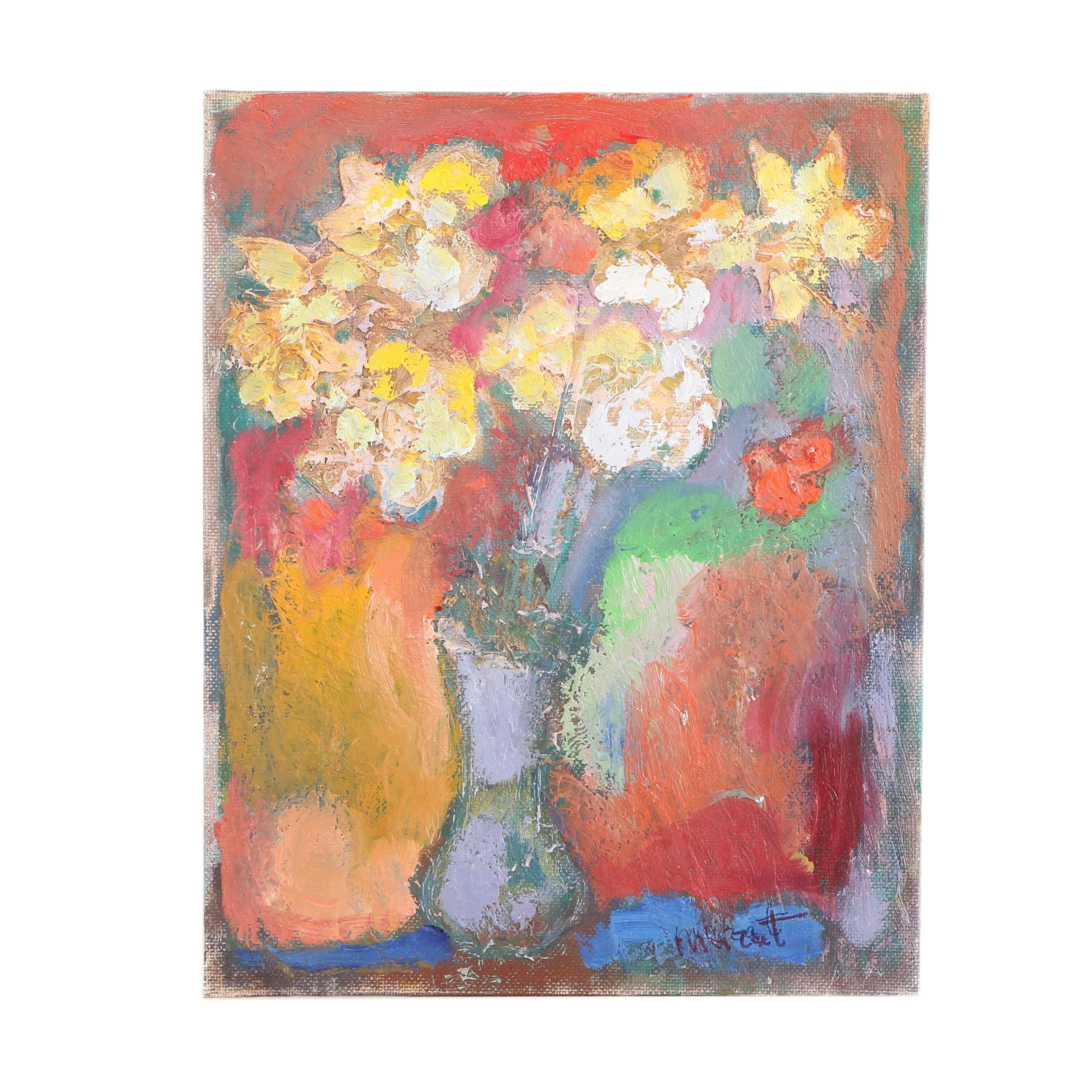 """Murat Kaboulov Oil Painting on Canvas Board """"Daffodils"""""""