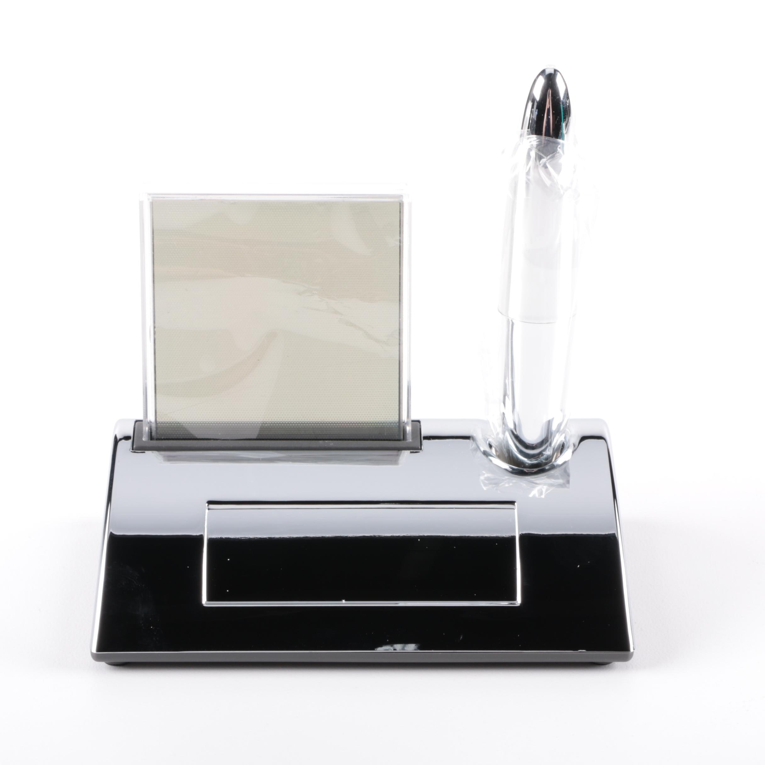 Lighted Touch Clock and Gravity Pen by Things Remembered