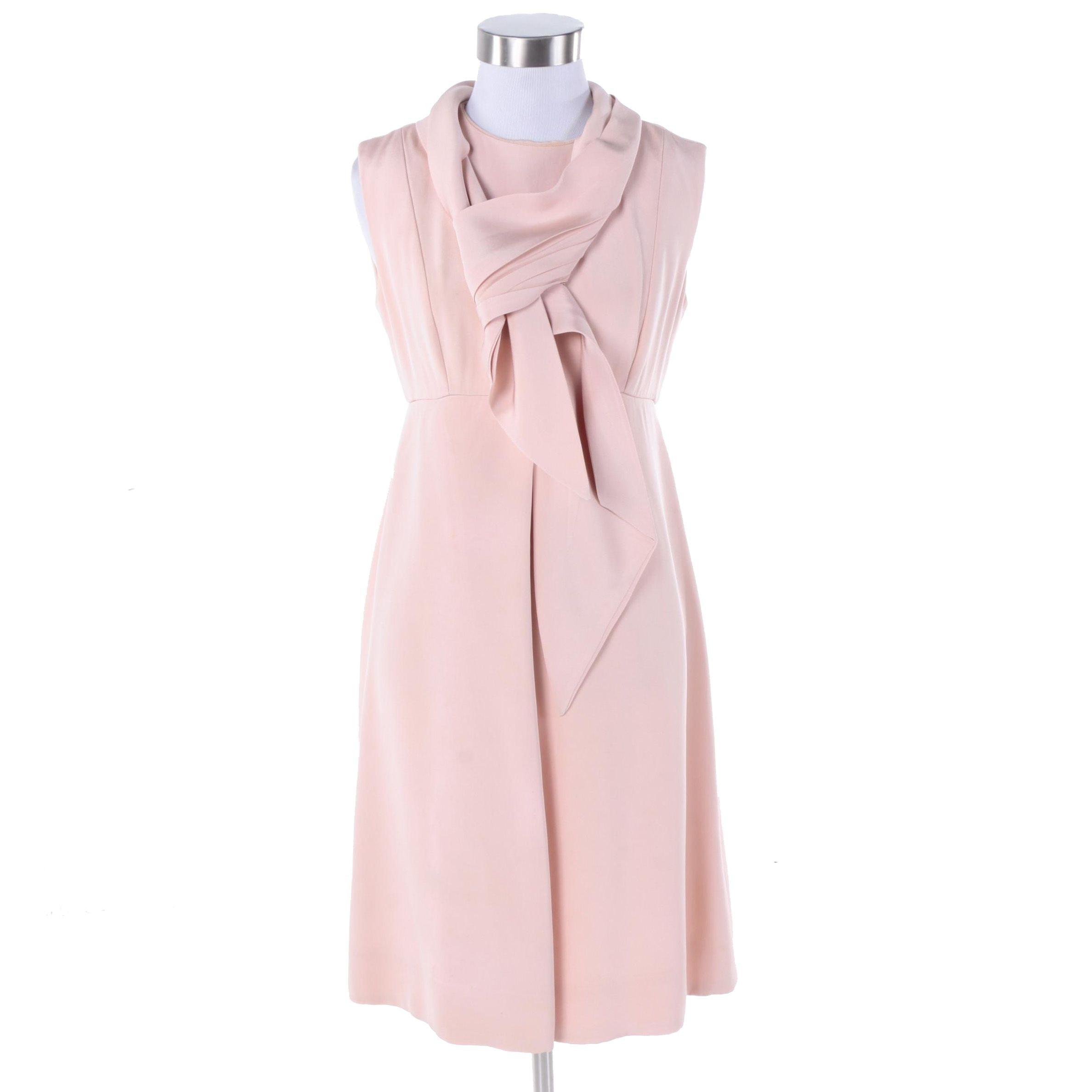 1960s Bill Blass for Maurice Rentner Pink Silk Dress