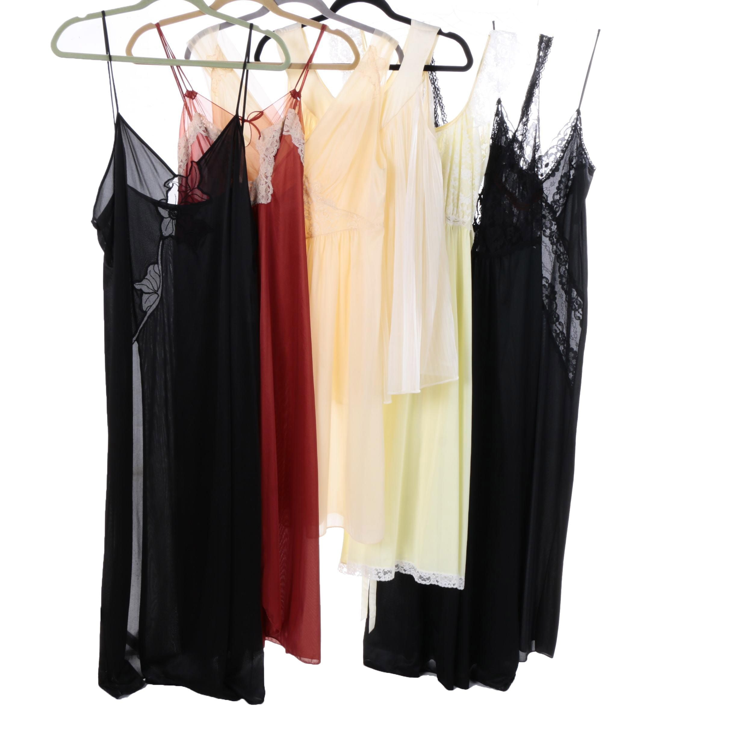 Vintage Sheer and Lace Nightgowns and Slips