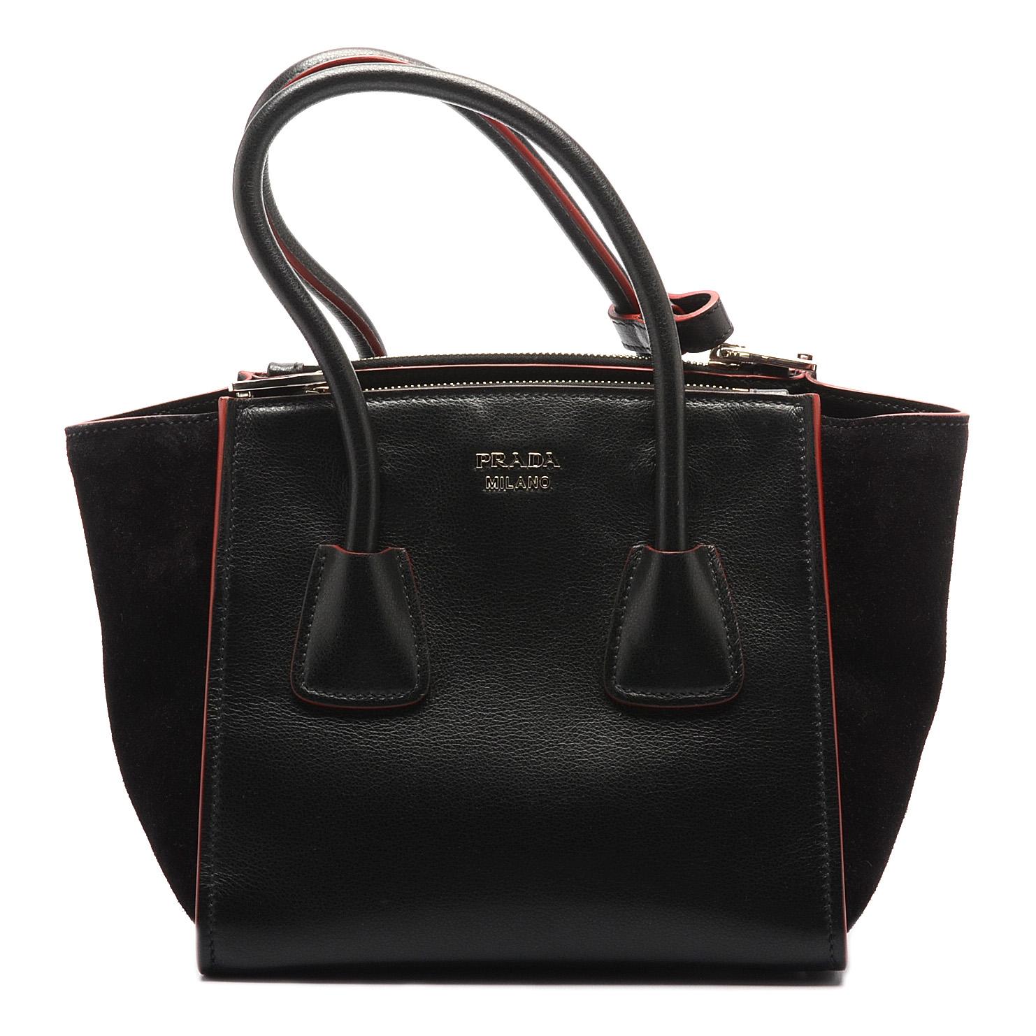 4c56f22028d1bd ... where to buy prada glace twin pocket leather handbag d8e87 12168