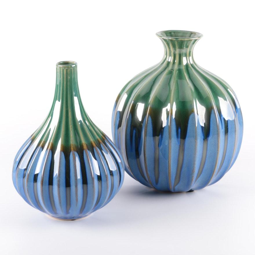 Pier 1 Imports Stoneware Vases Ebth