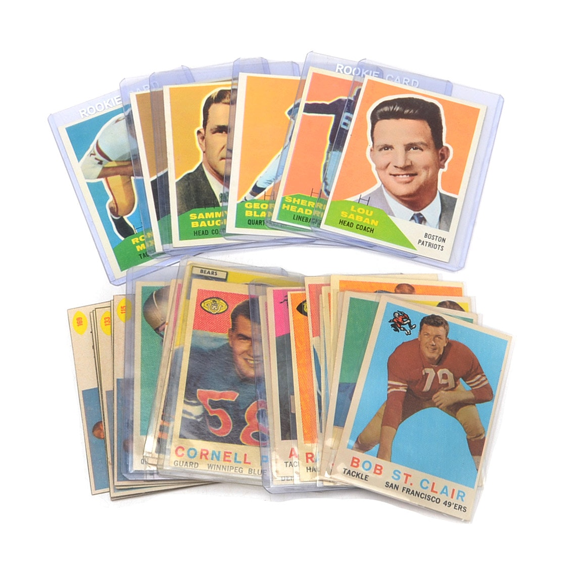 1950s-1960s Topps, Fleer, and Post Cereal Football Cards