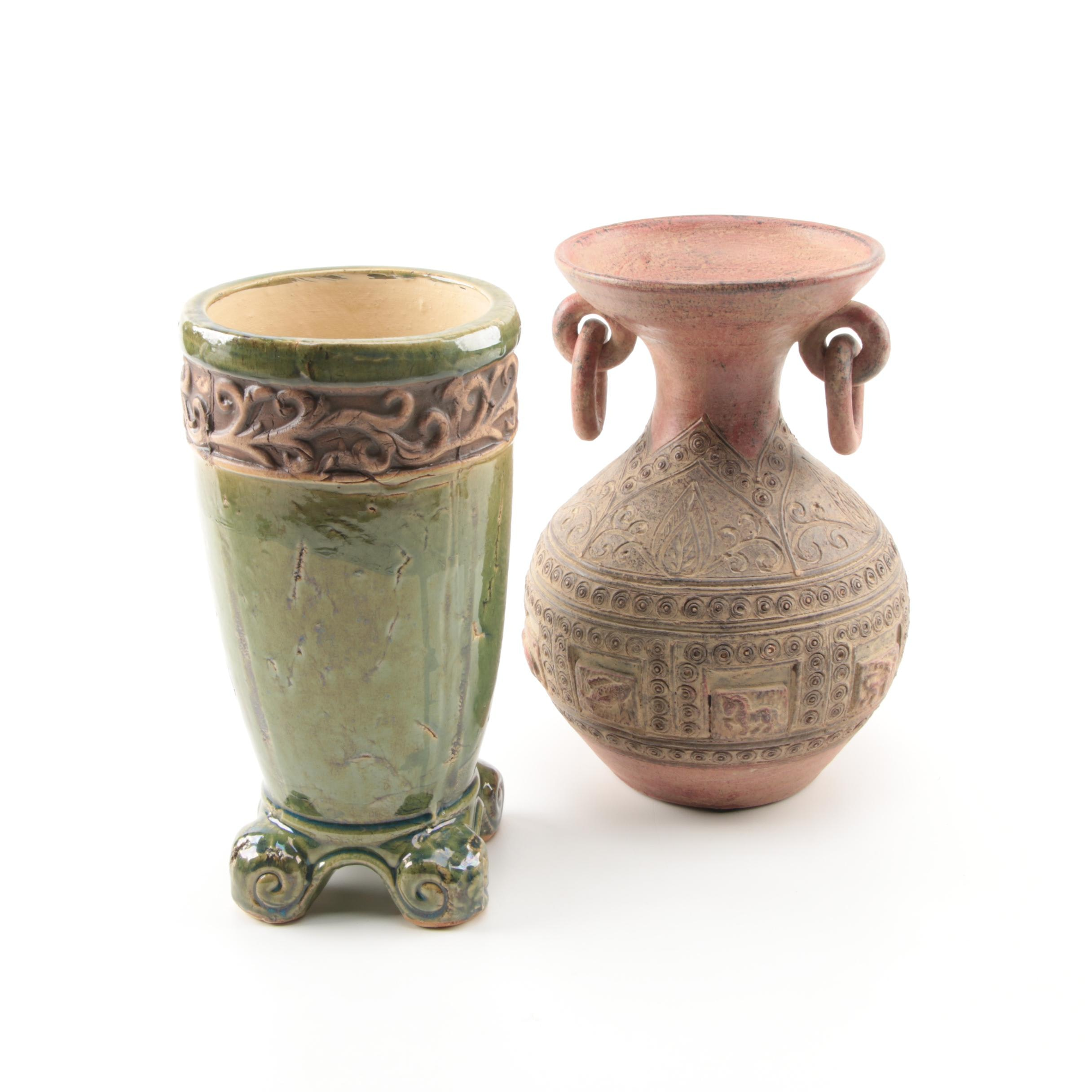 Earth Tone Pottery Vessels