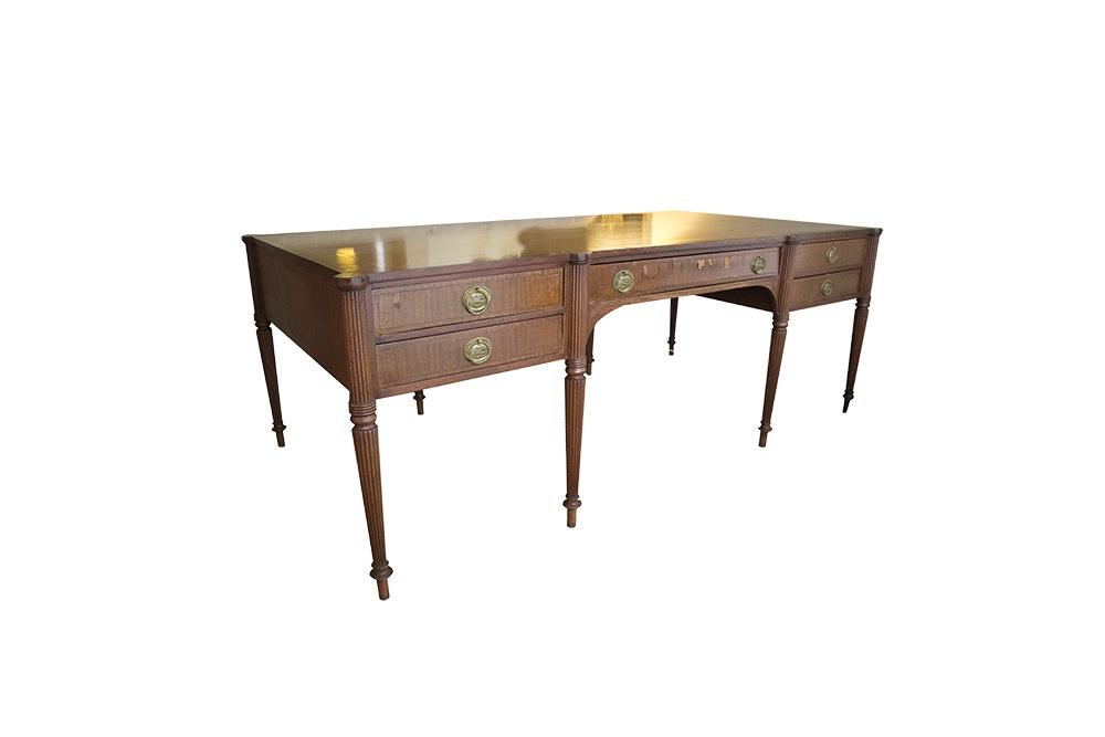 Sheraton Style Mahogany Partners Desk
