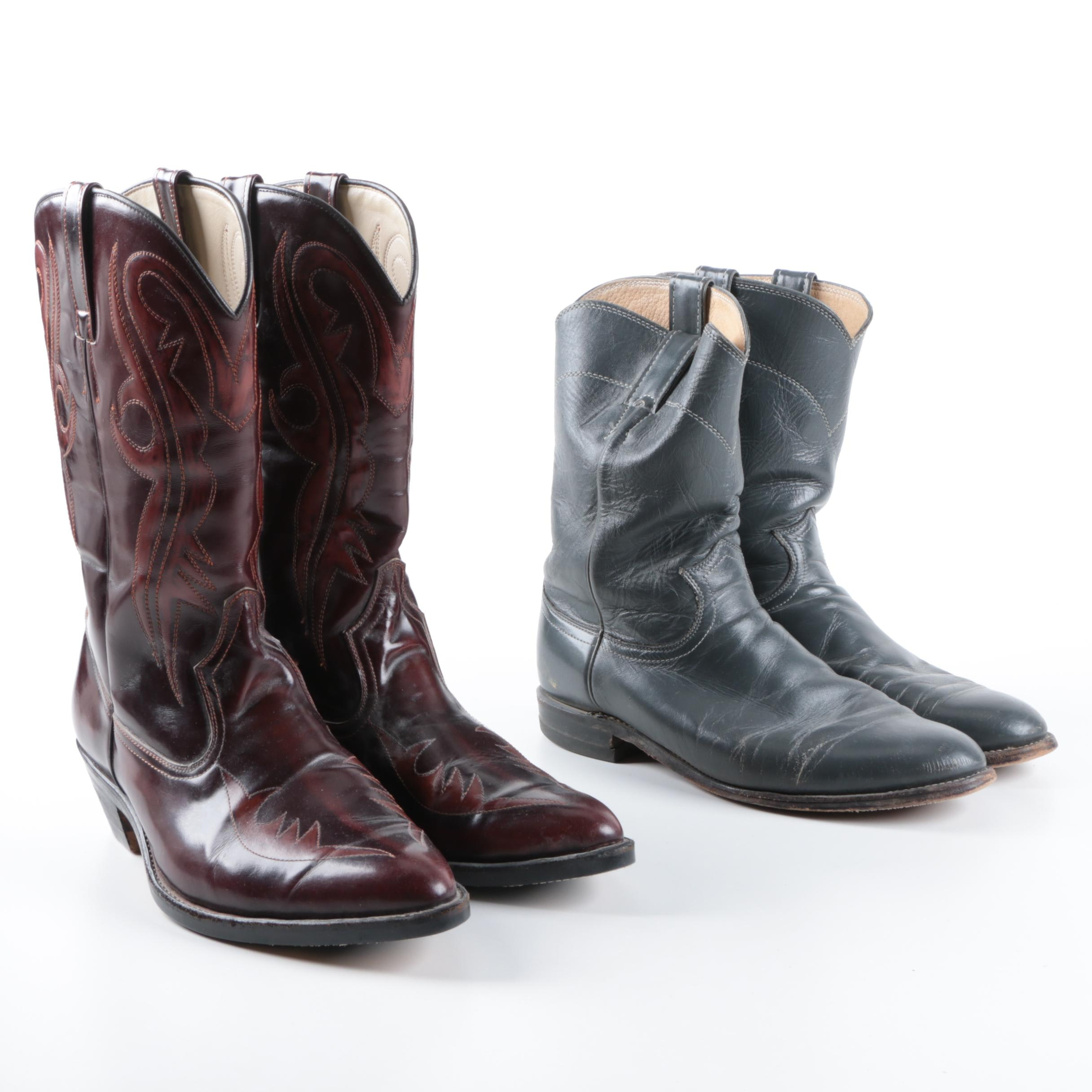 Men's Tony Lama and Justin Cowboy Boots