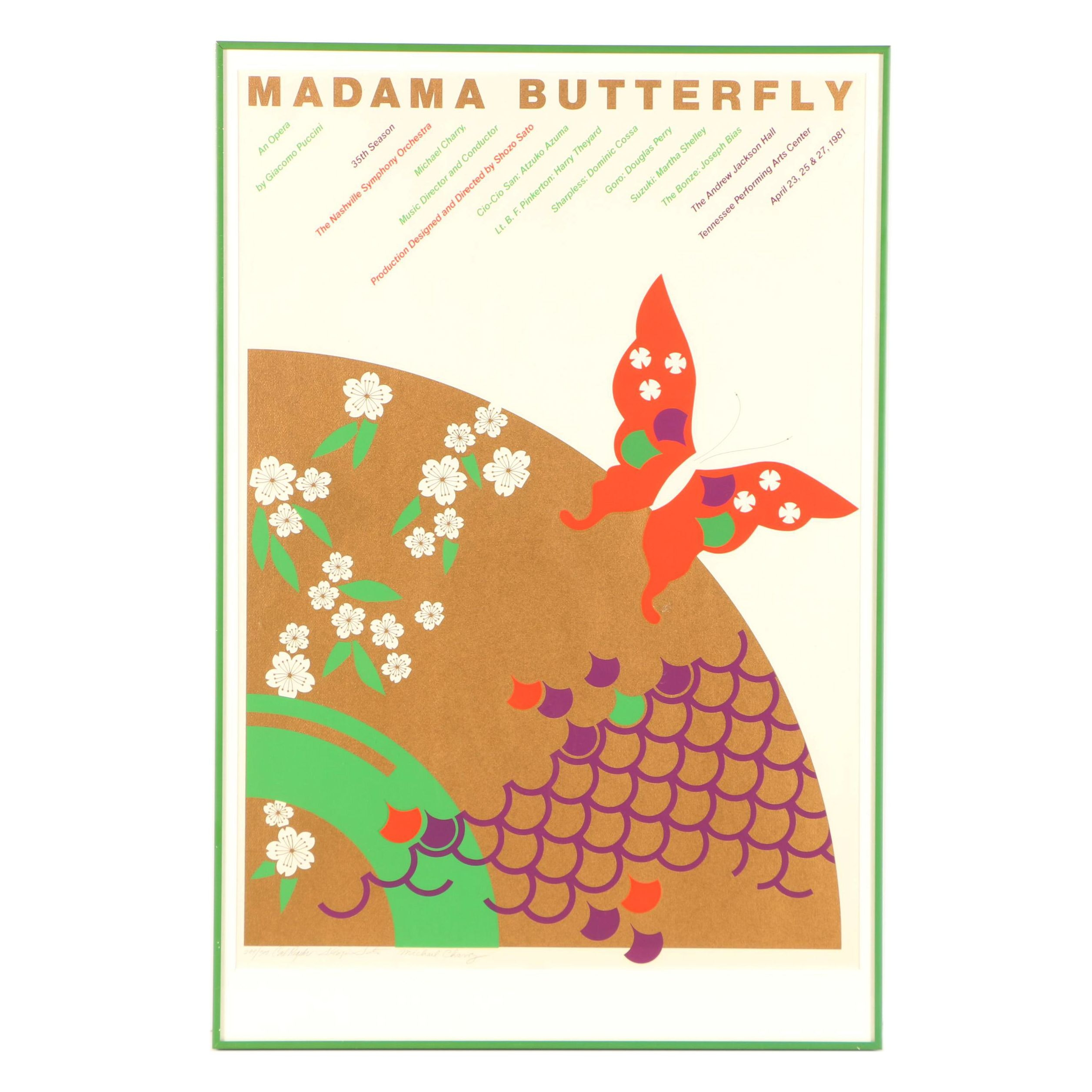 "Carl Regehr Serigraph Promotional Poster for ""Madama Butterfly"""