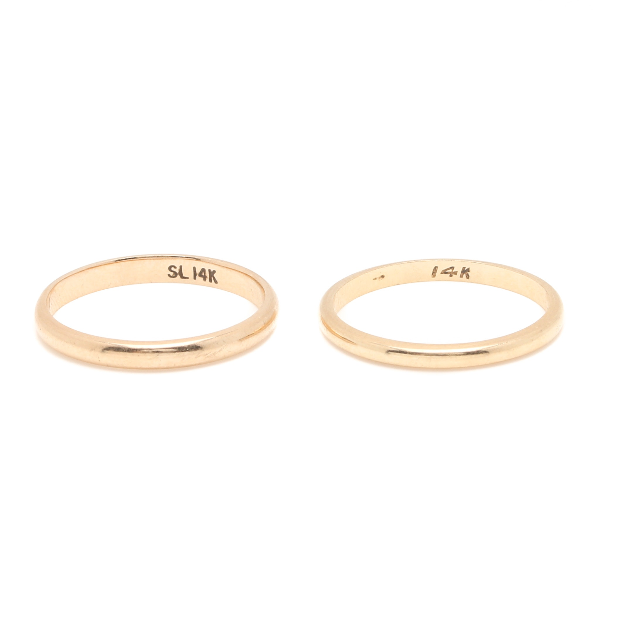 14K Yellow Gold Ring Bands