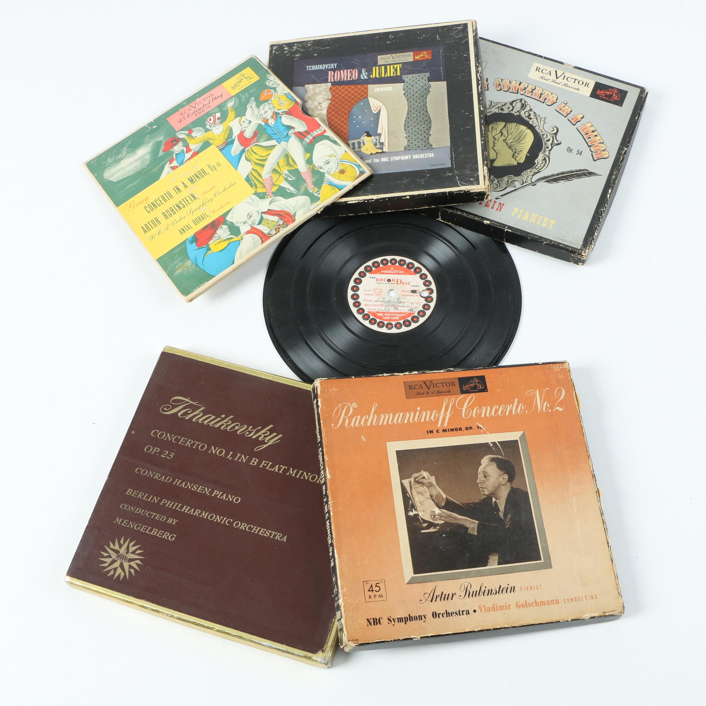 Vintage RCA Victor Classical Records Including Rachmaninoff and Tchaikovsky