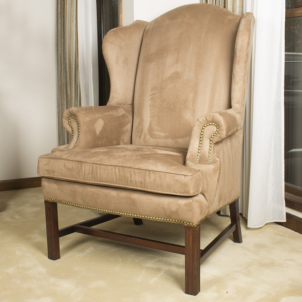 Ultra-Suede Wingback Chair