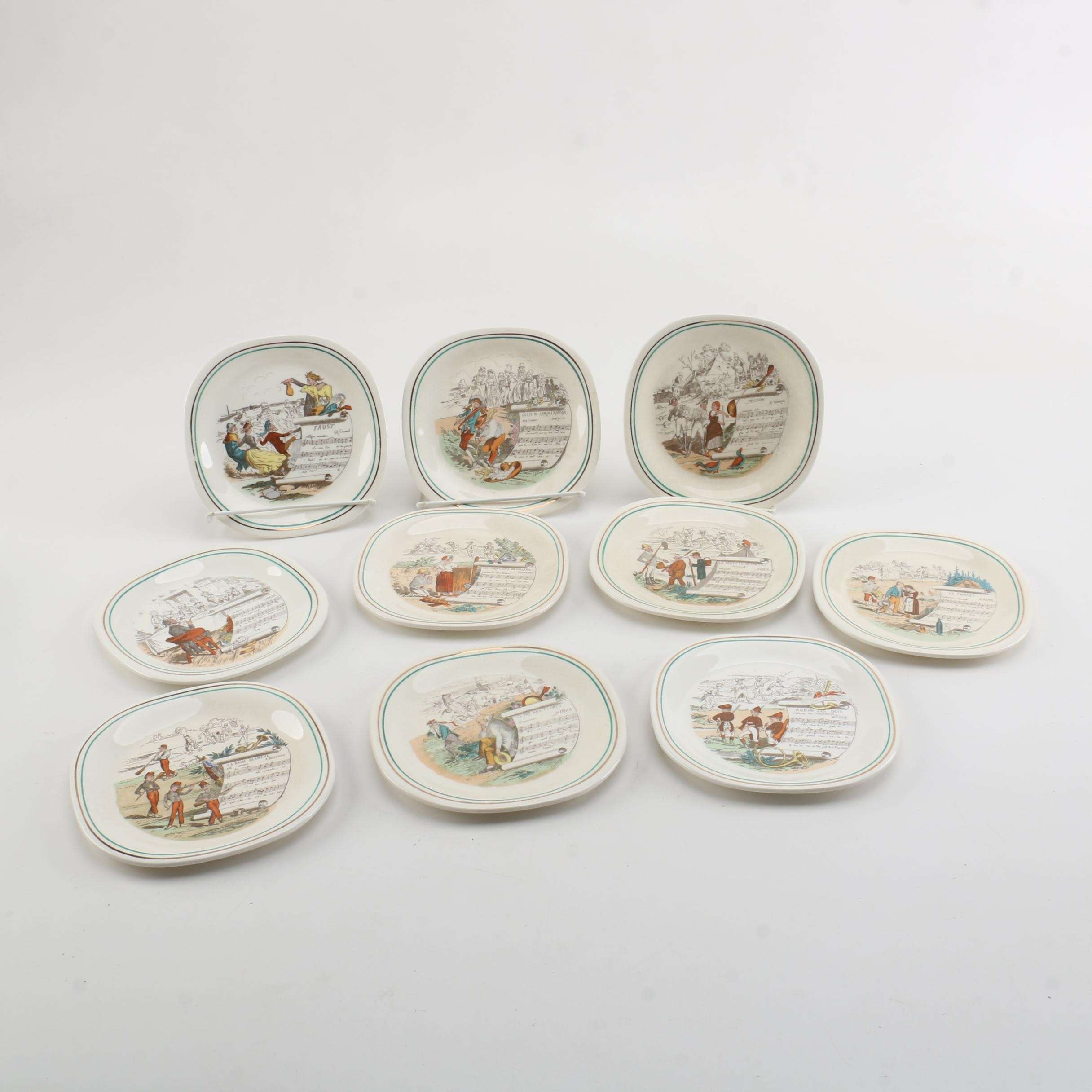 Parry & Vielle French Opera Motif Plates