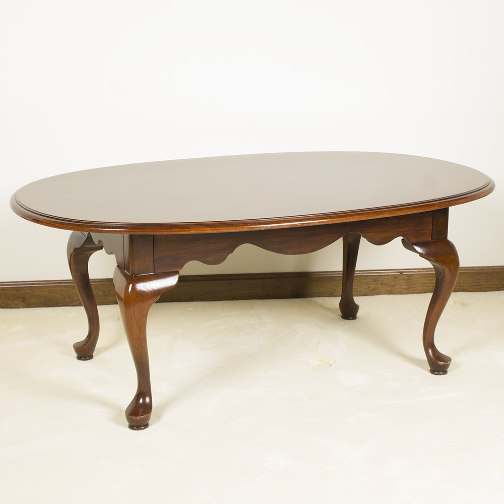 Oval Wooden Table