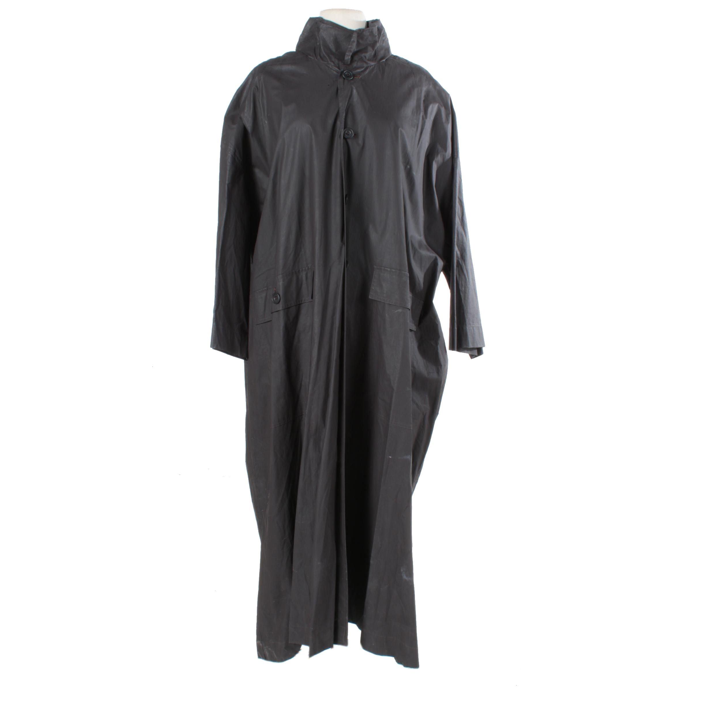Eskandar Black Raincoat