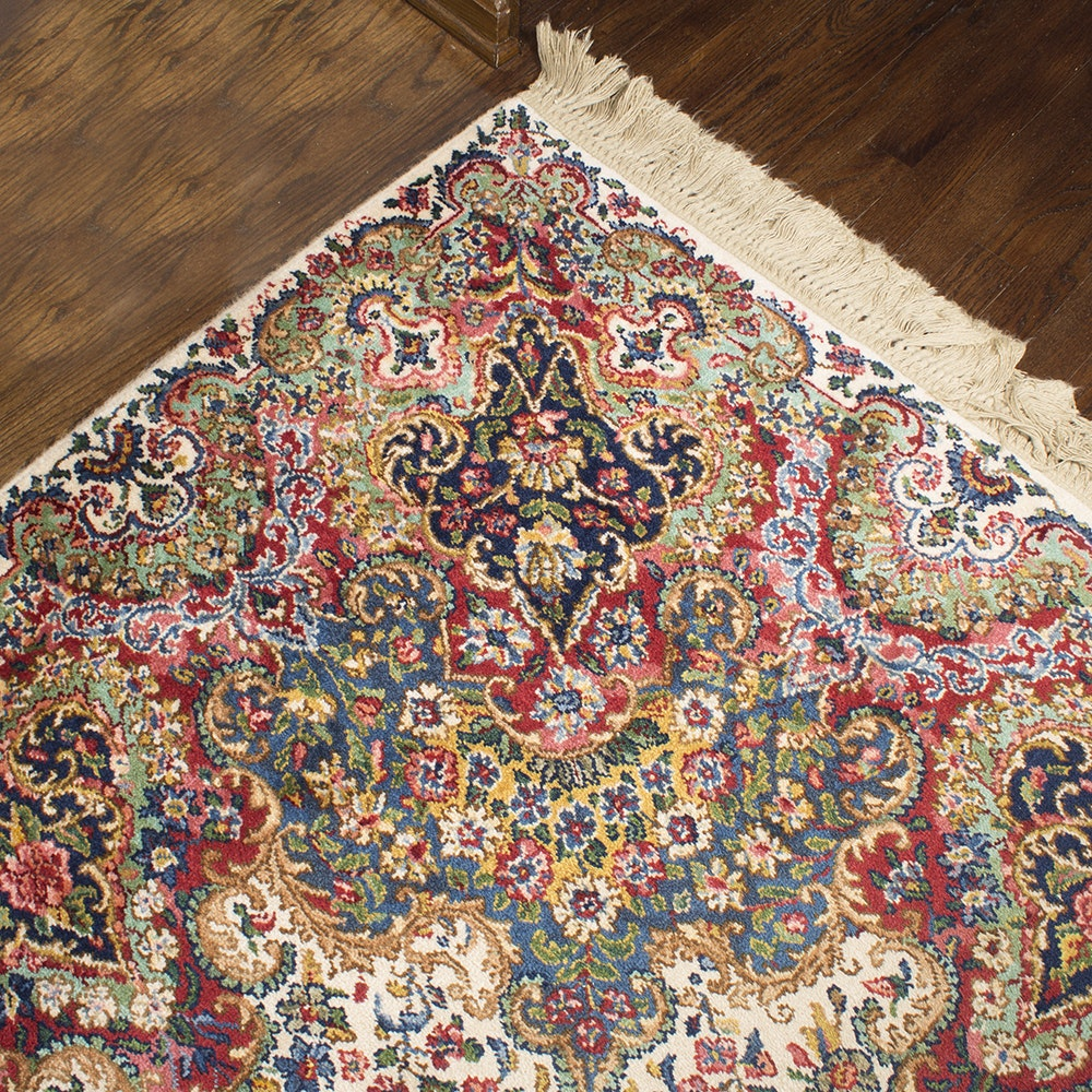 "Power-Loomed Karastan ""Floral Kirman"" Wool Area Rug"