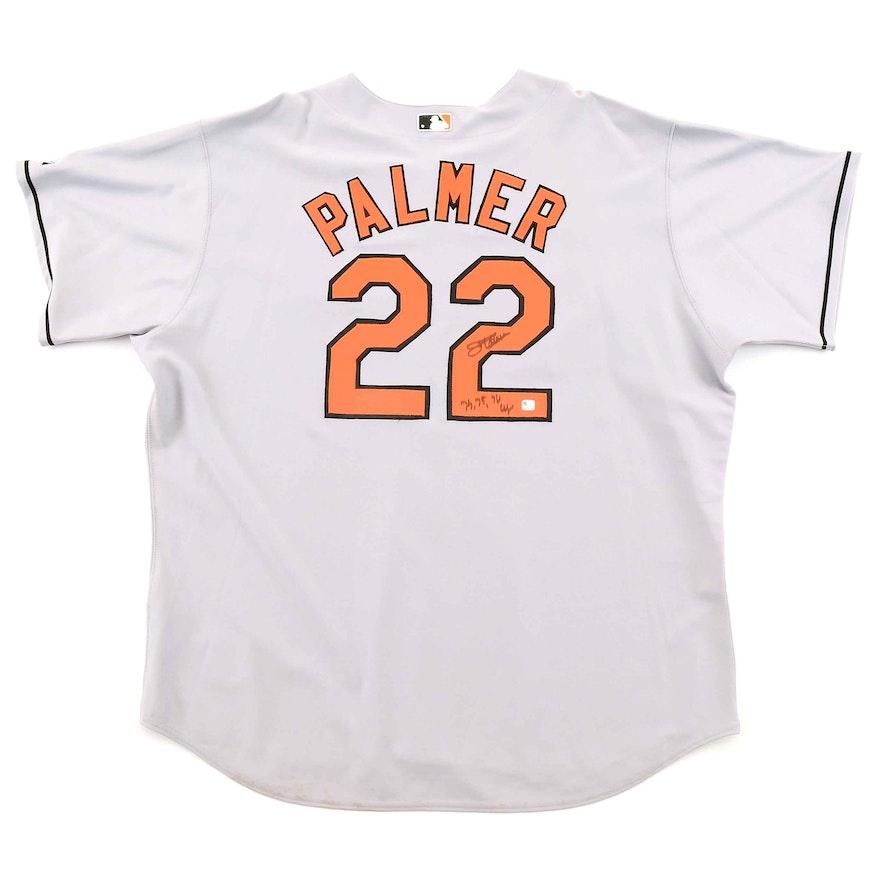 sale retailer 1b54b ecbcb Jim Palmer Autographed Jersey COA