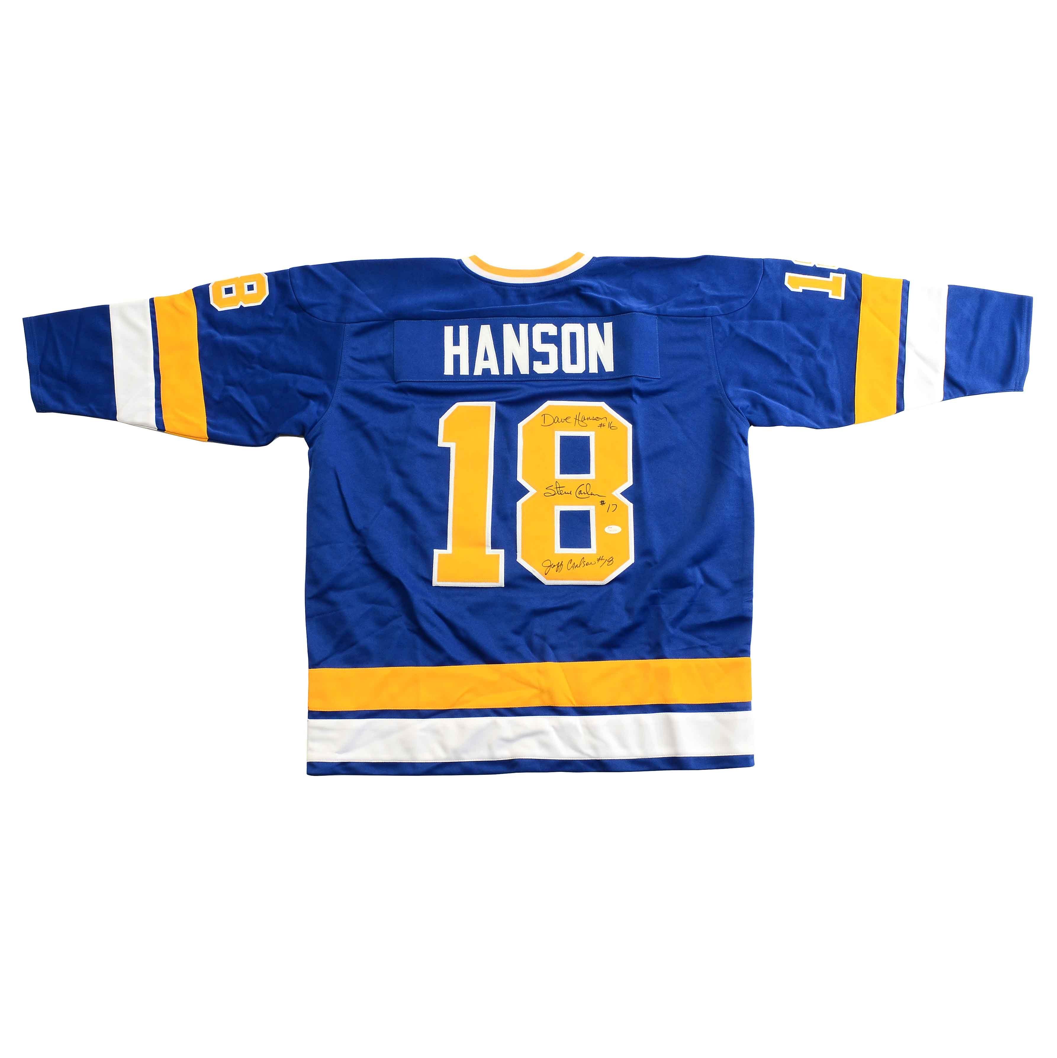 """Slap Shot"" Hanson Brothers Autographed Hockey Jersey COA"