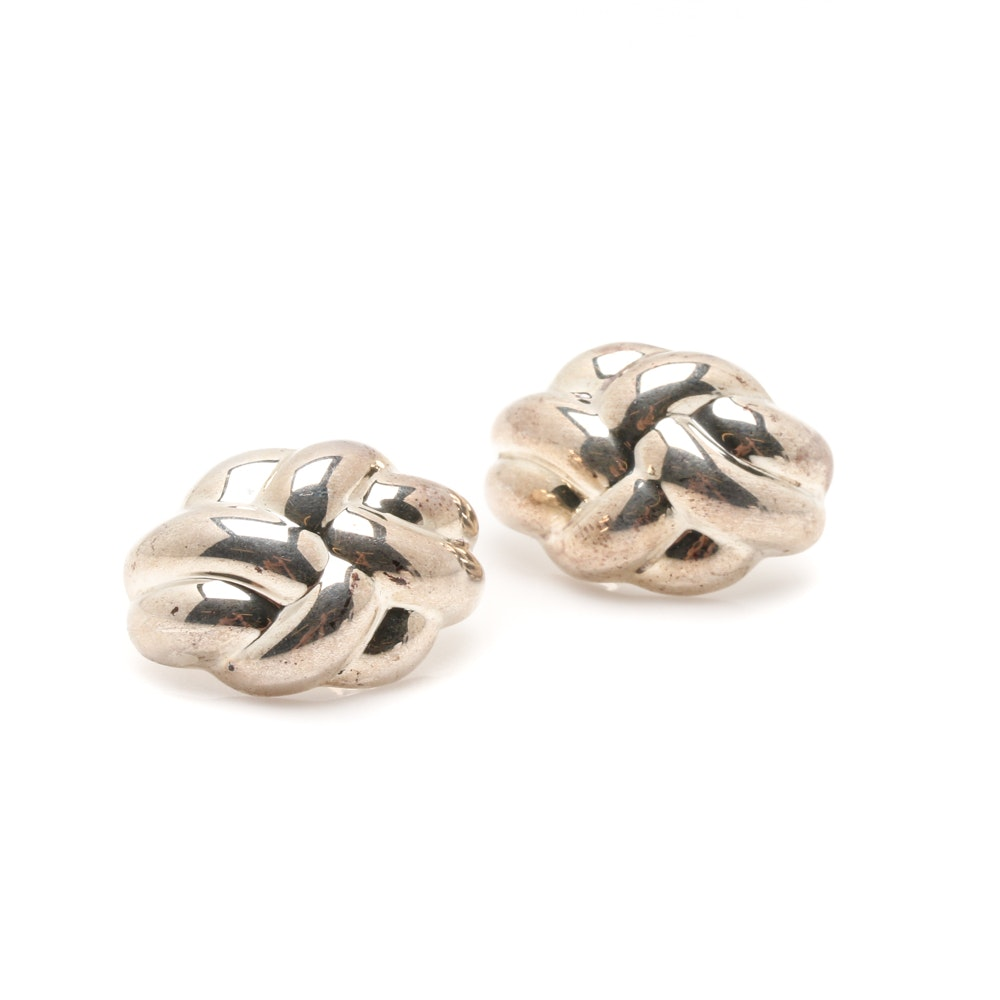 Sterling Silver Twisted Knot Earrings