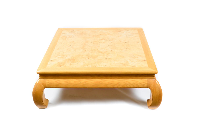 Henredon Asian Style Burl Wood Coffee Table EBTH