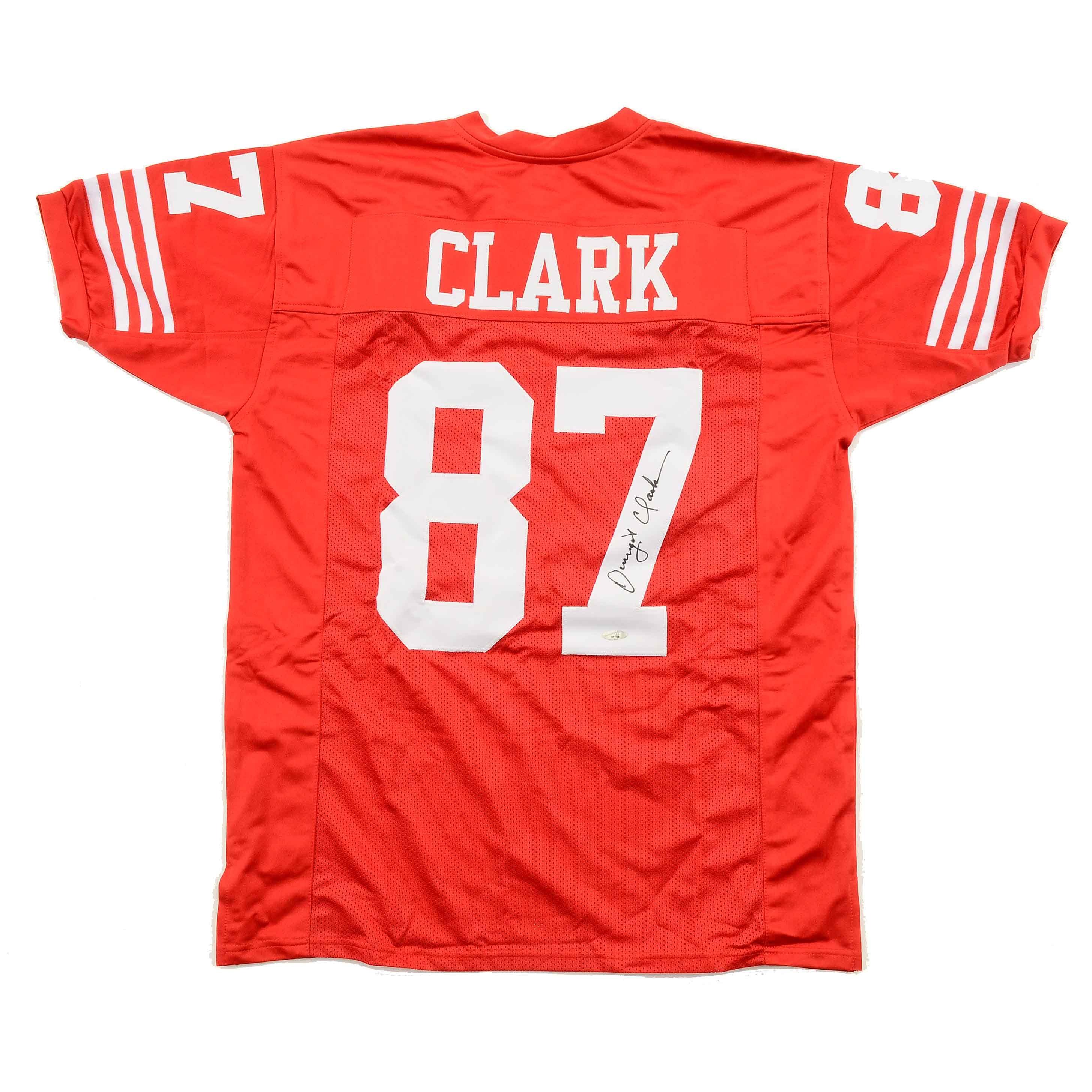 Dwight Clark Autographed San Fransisco 49ers Jersey Tr-Star COA