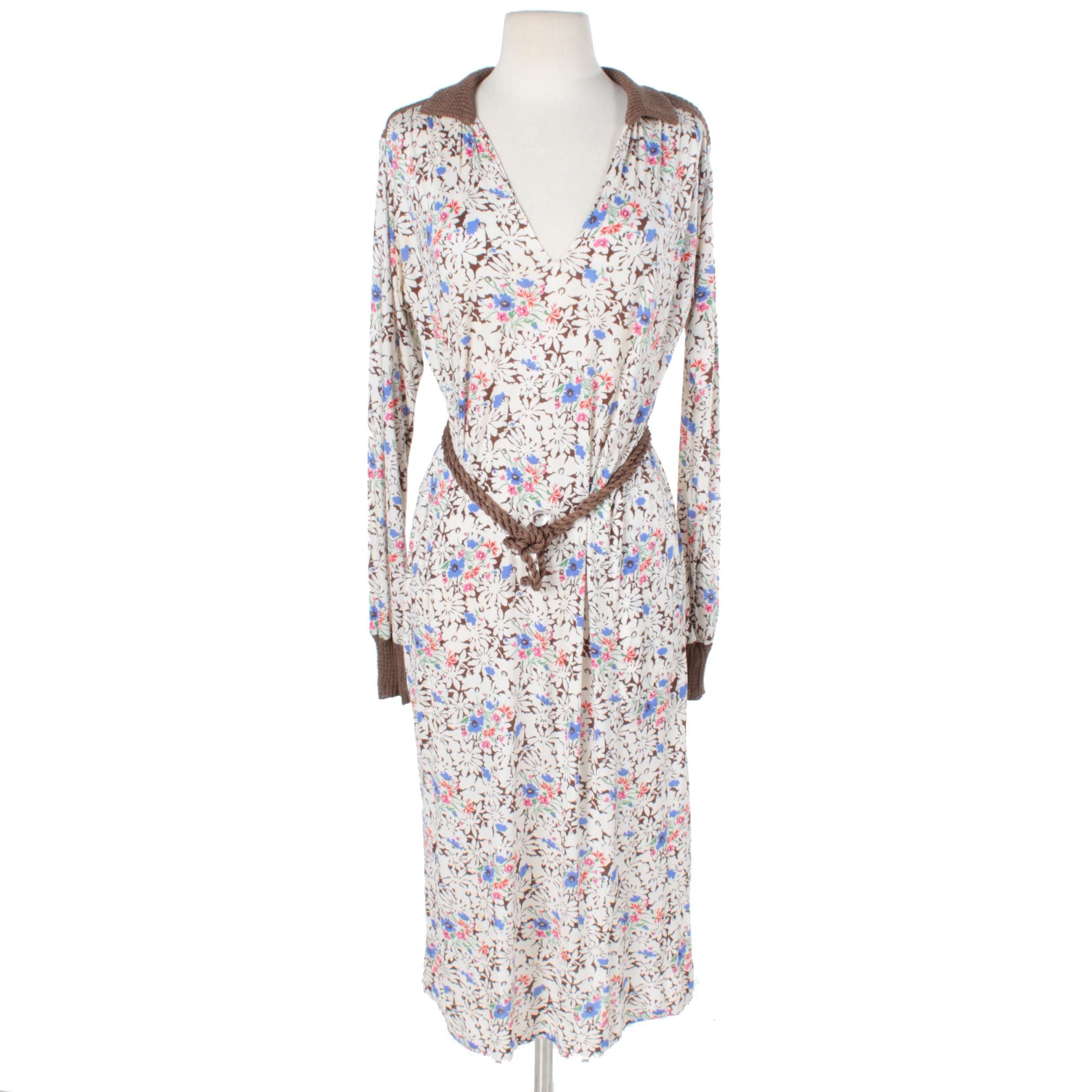 Women's 1970s Vintage Floral Dress