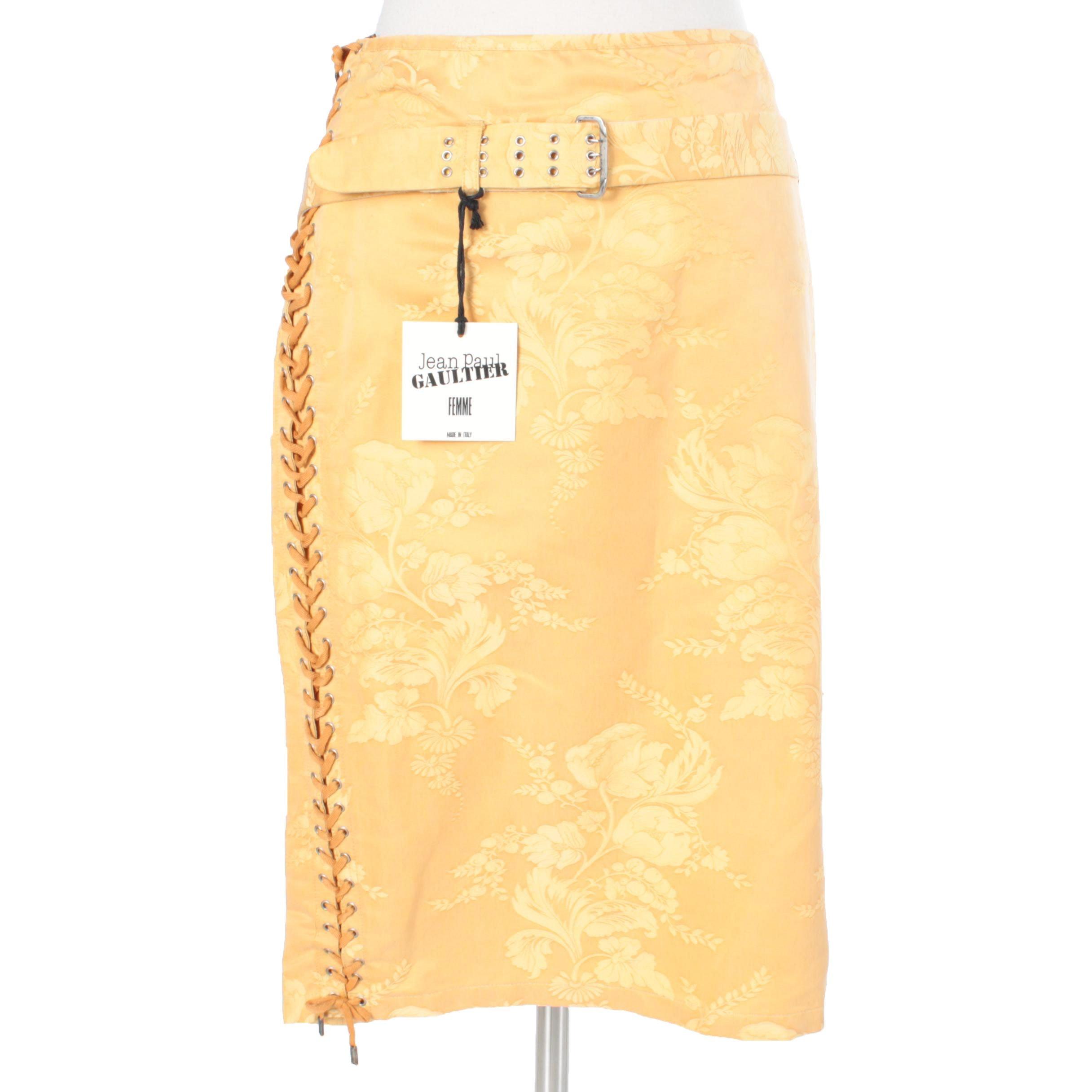 1990s Jean Paul Gaultier  Silk Blend Skirt