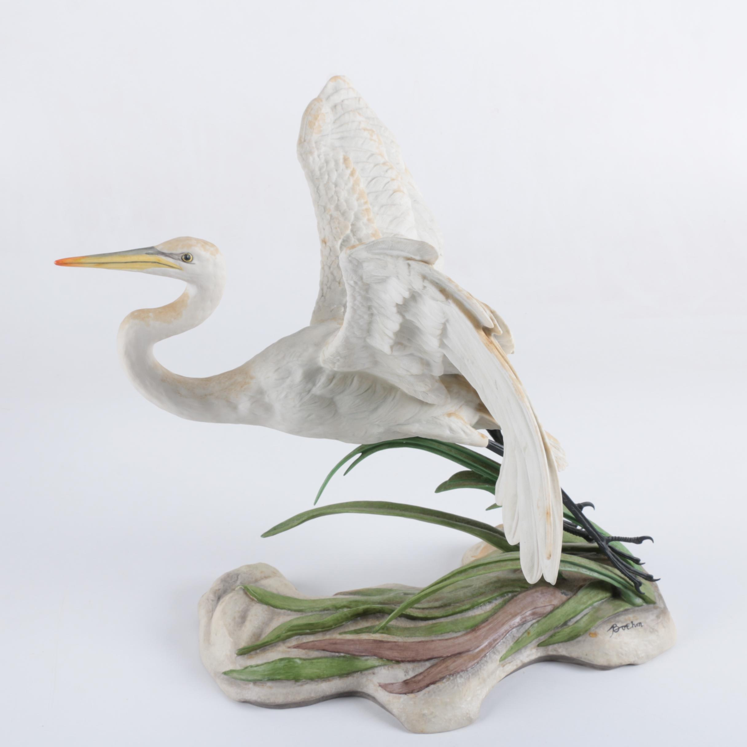 "Boehm ""The Great Egret"" Porcelain Sculpture for National Audubon Society"