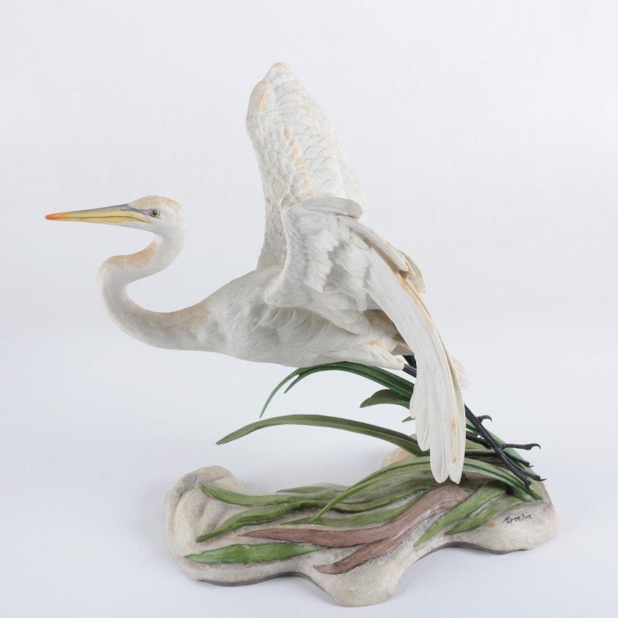 Boehm The Great Egret Porcelain Sculpture For National Audubon