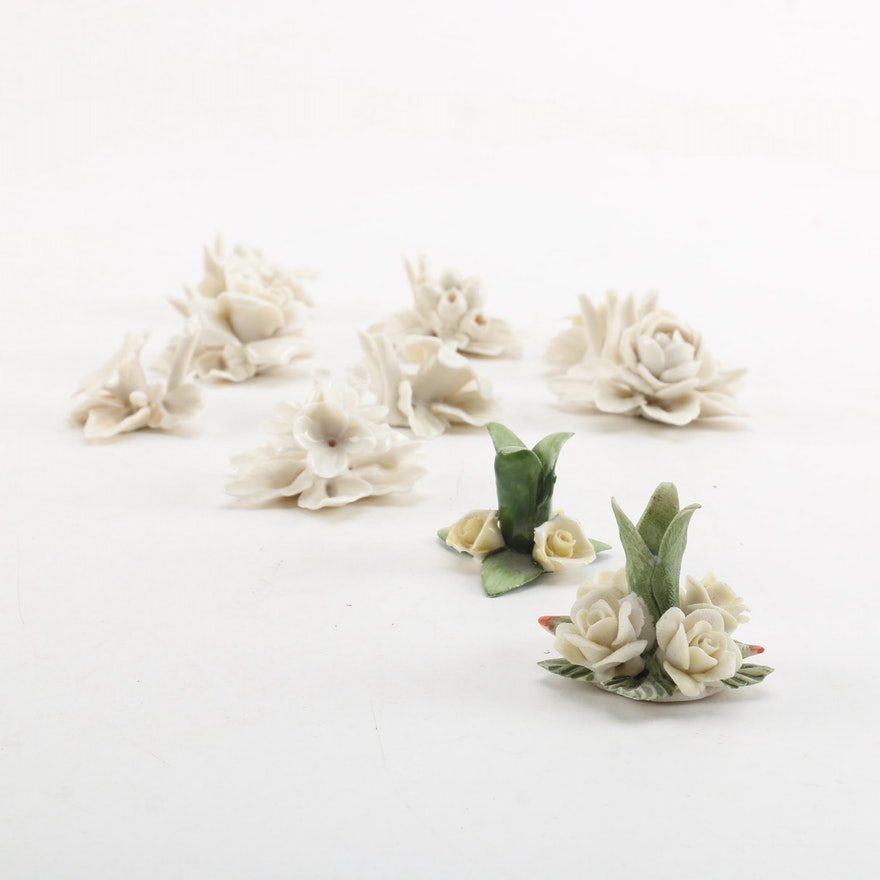 White porcelain flower figurines including capodimonte ebth white porcelain flower figurines including capodimonte mightylinksfo