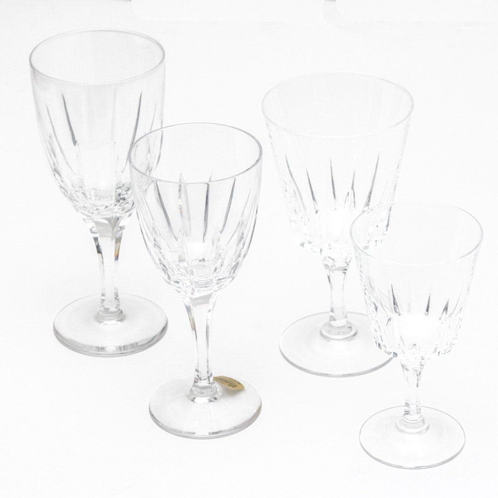 Generous Crystal Stemware Collection Including Atlantis