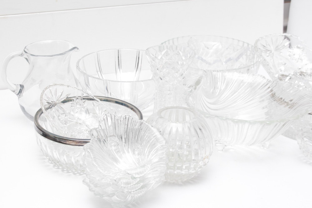 Cut and Pressed Crystal and Glass Tableware