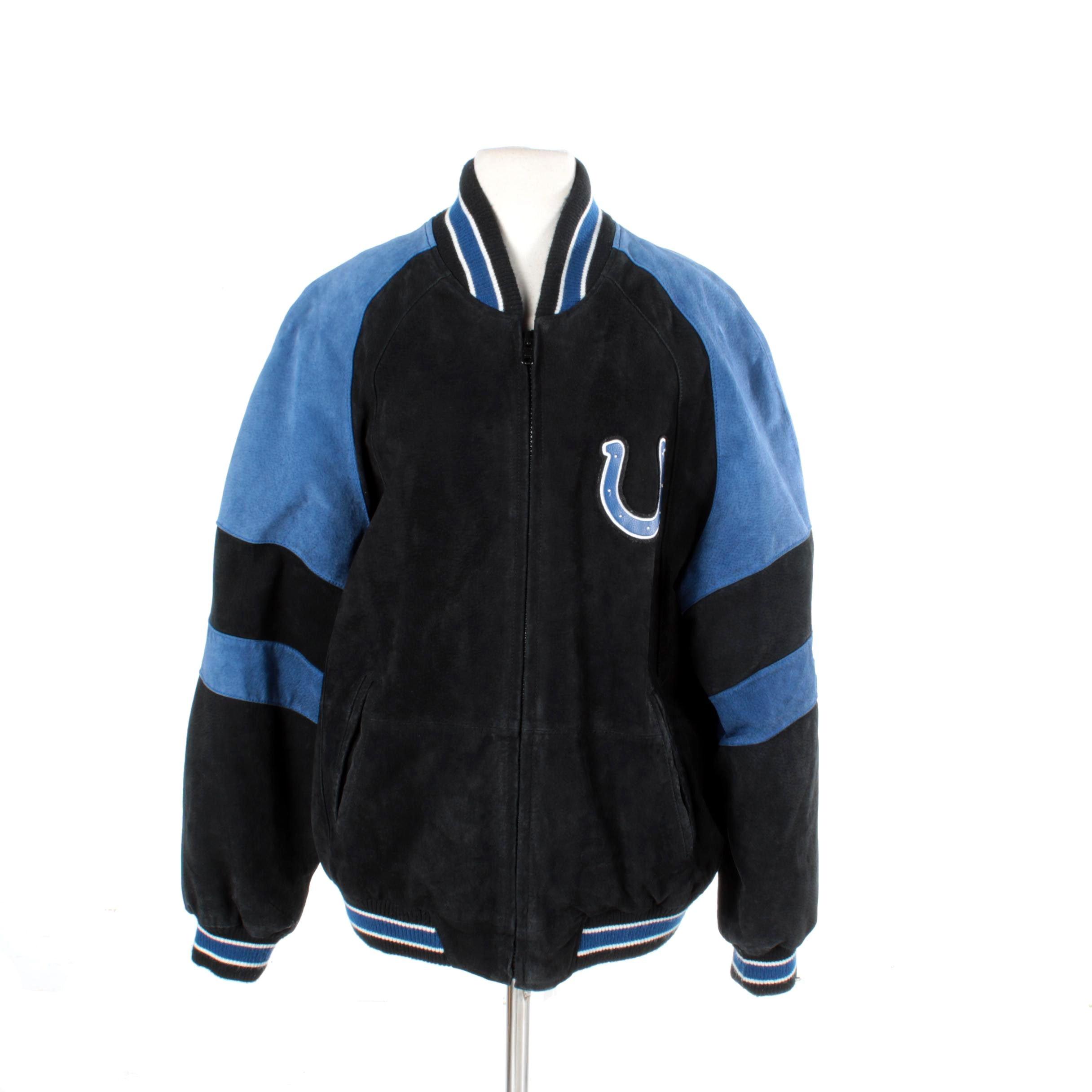 Men's NFL Indianapolis Colts Suede Varsity Jacket