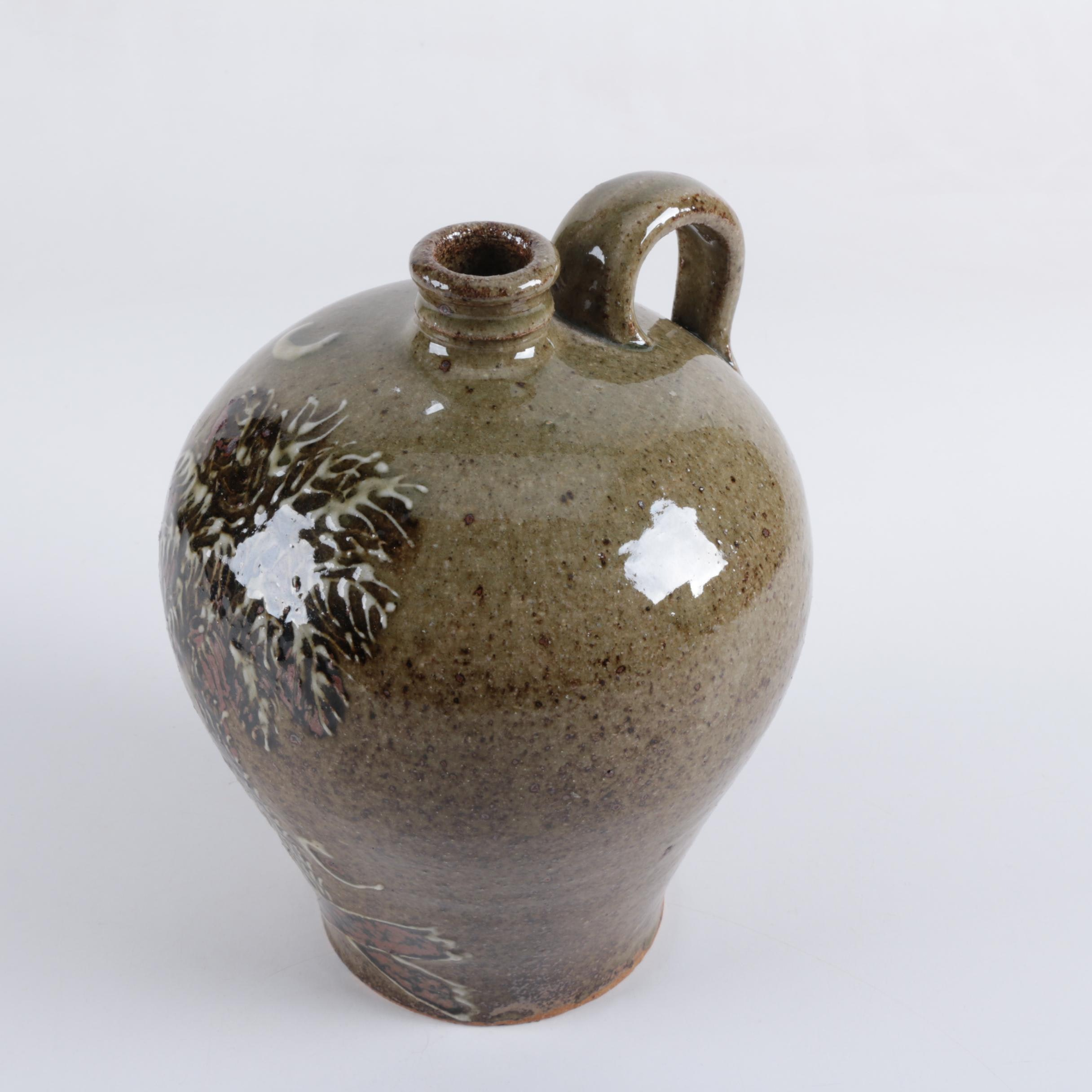 Hand Crafted Pottery Jug by Edgefield Pottery Artist, Steve Ferrell