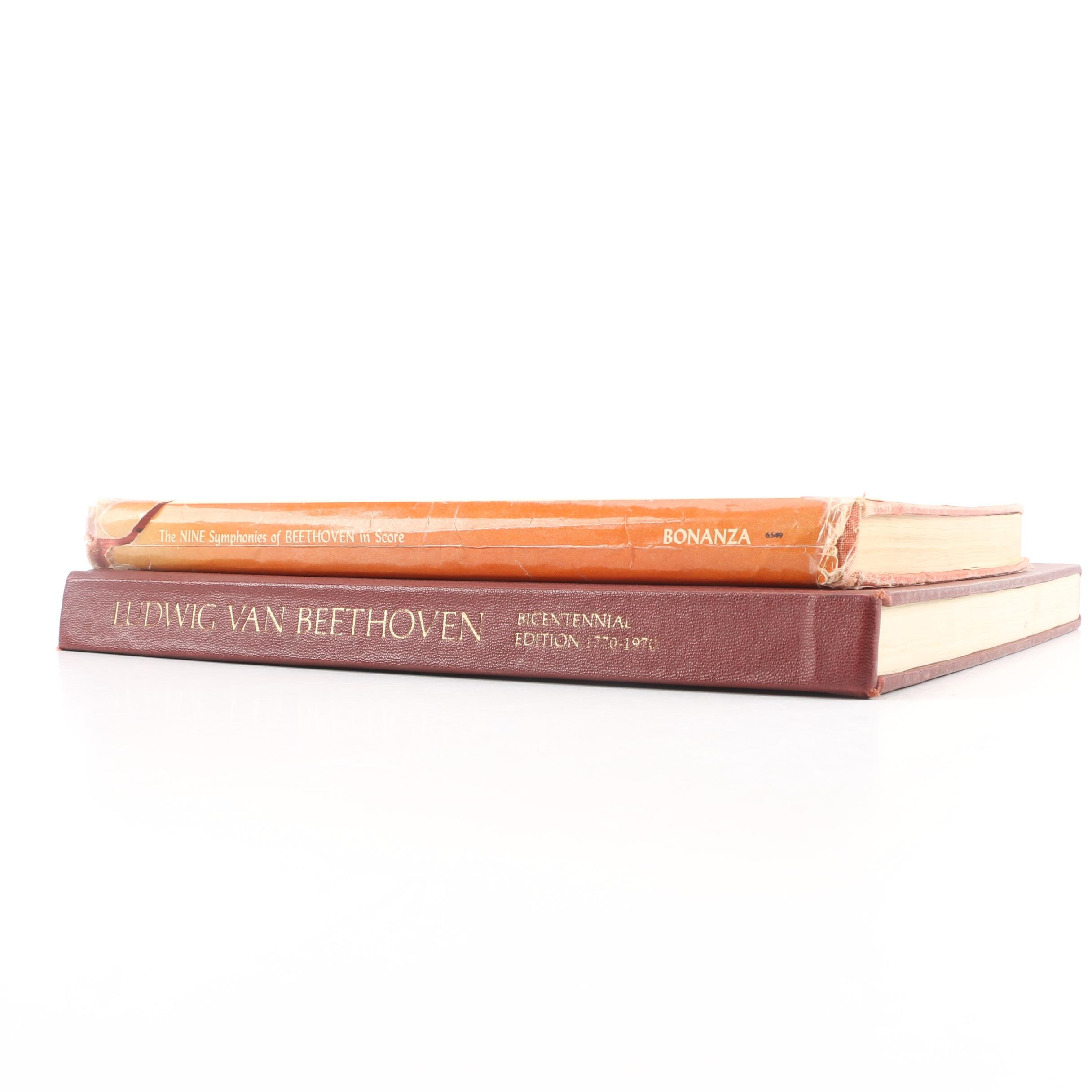 """Books on Beethoven Including 1970 """"Beethoven Bicentennial Edition"""""""