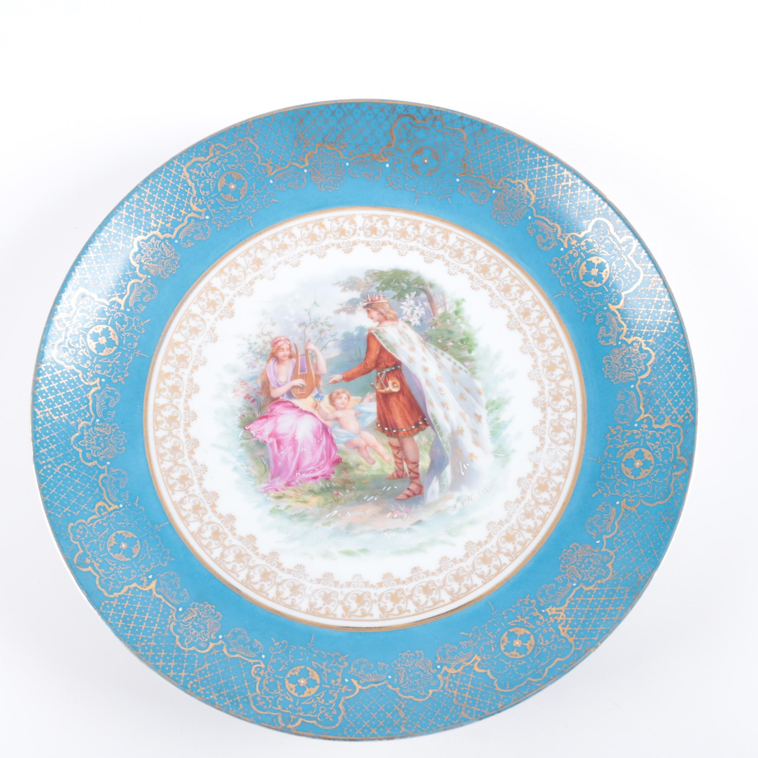 Kaufmann Royal Vienna Style Porcelain Plate
