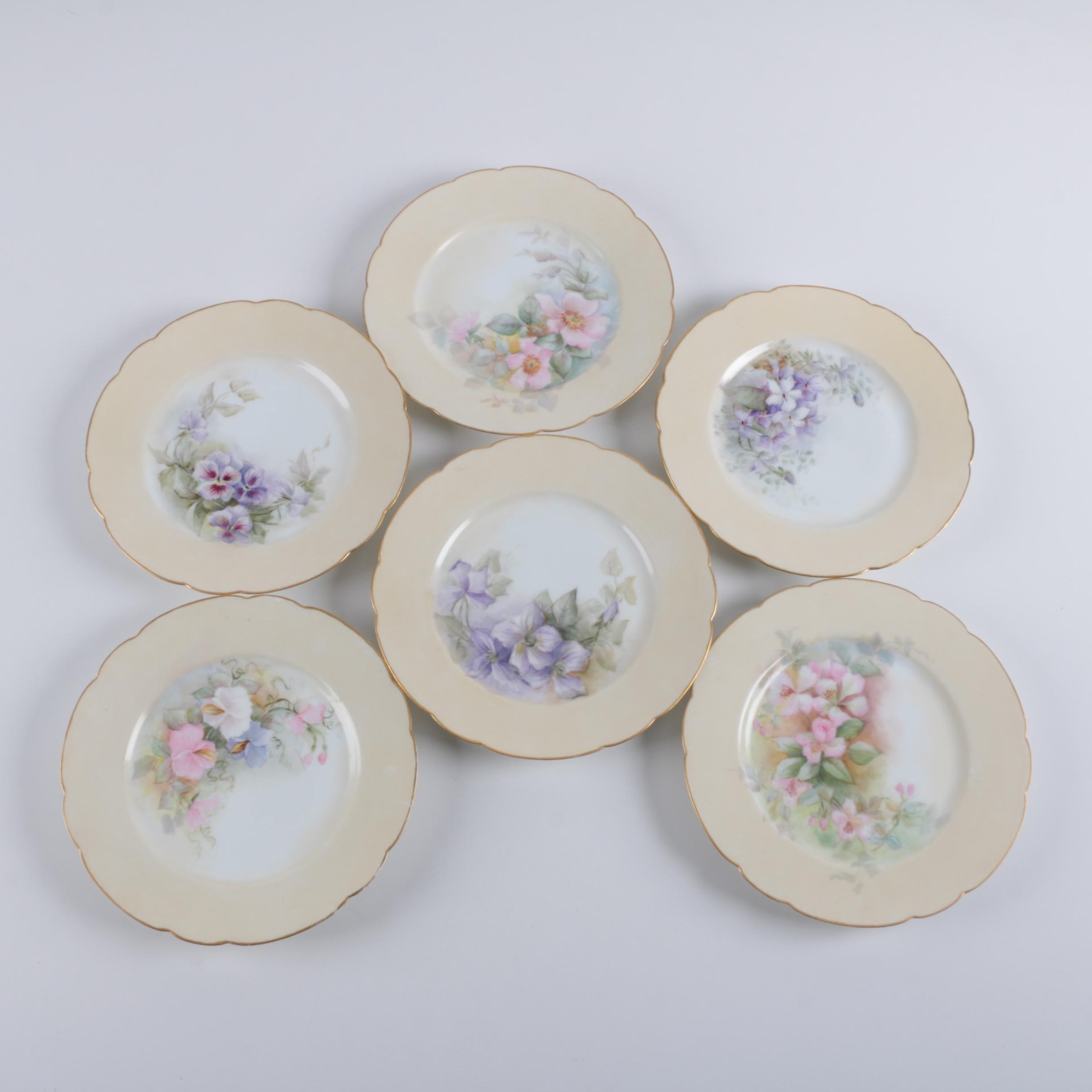 Hand Painted Haviland Limoges Porcelain Plates