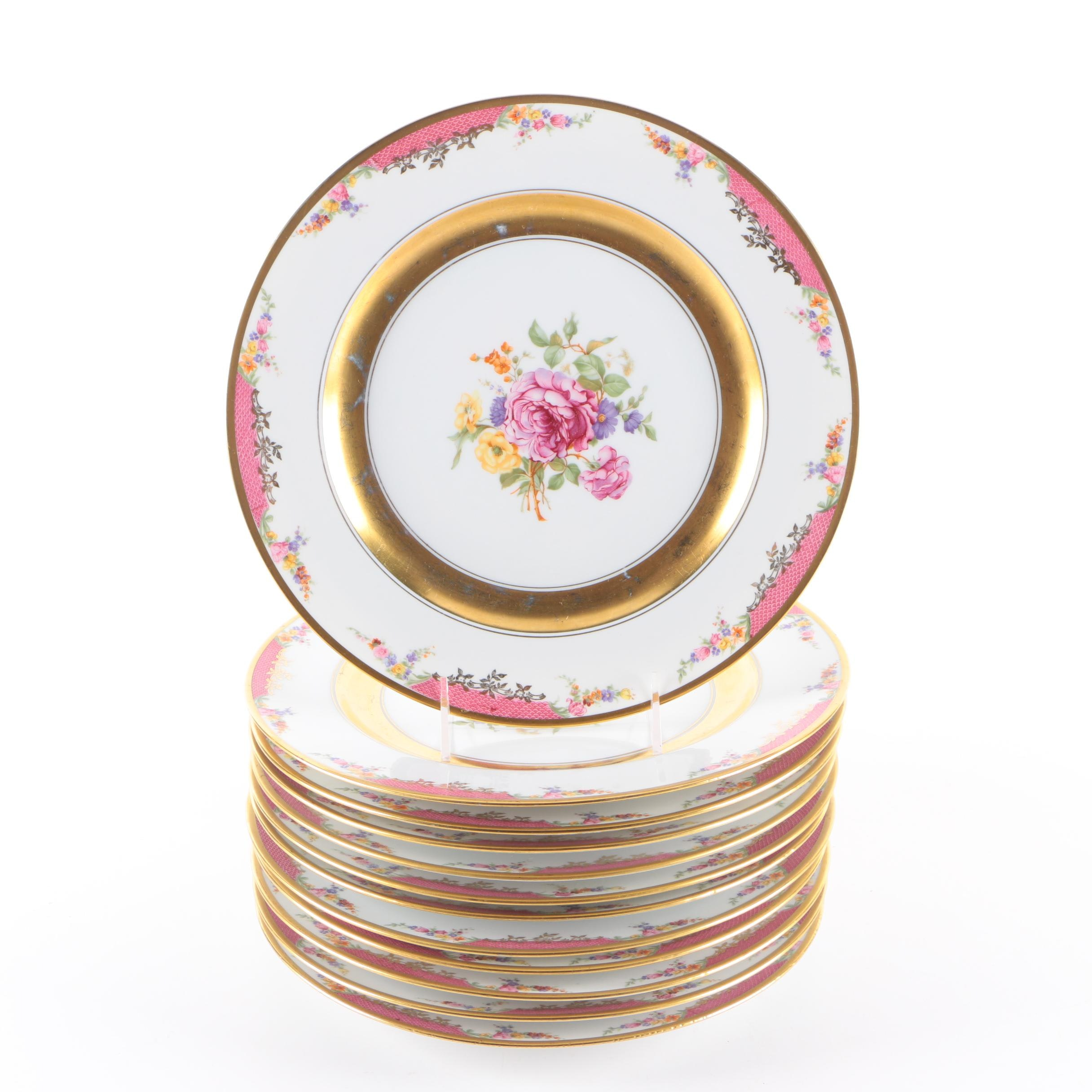 "Rosenthal ""Queens Rose"" Porcelain Plates"