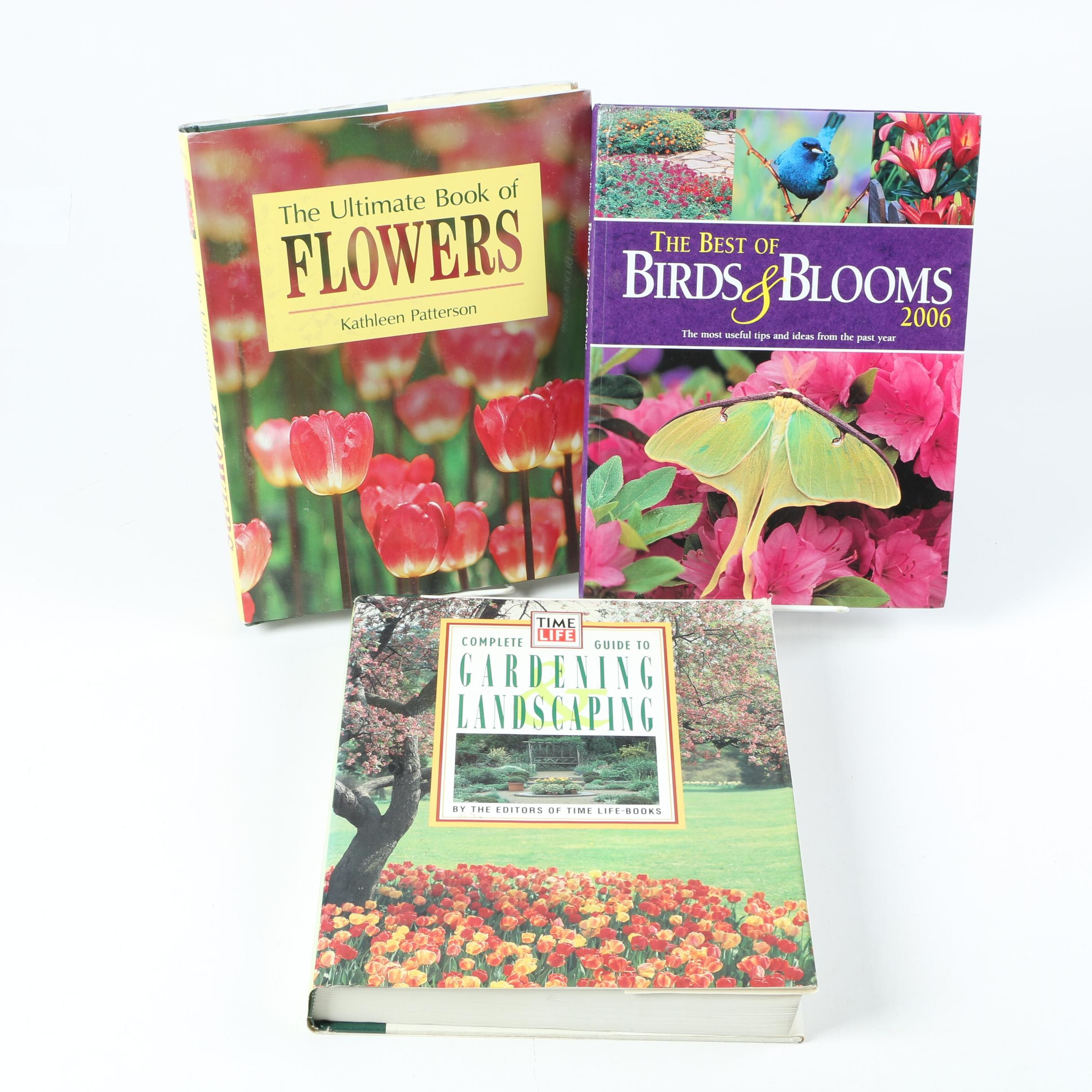 """Books on Gardening Including 2001 """"The Ultimate Book of Flowers"""""""
