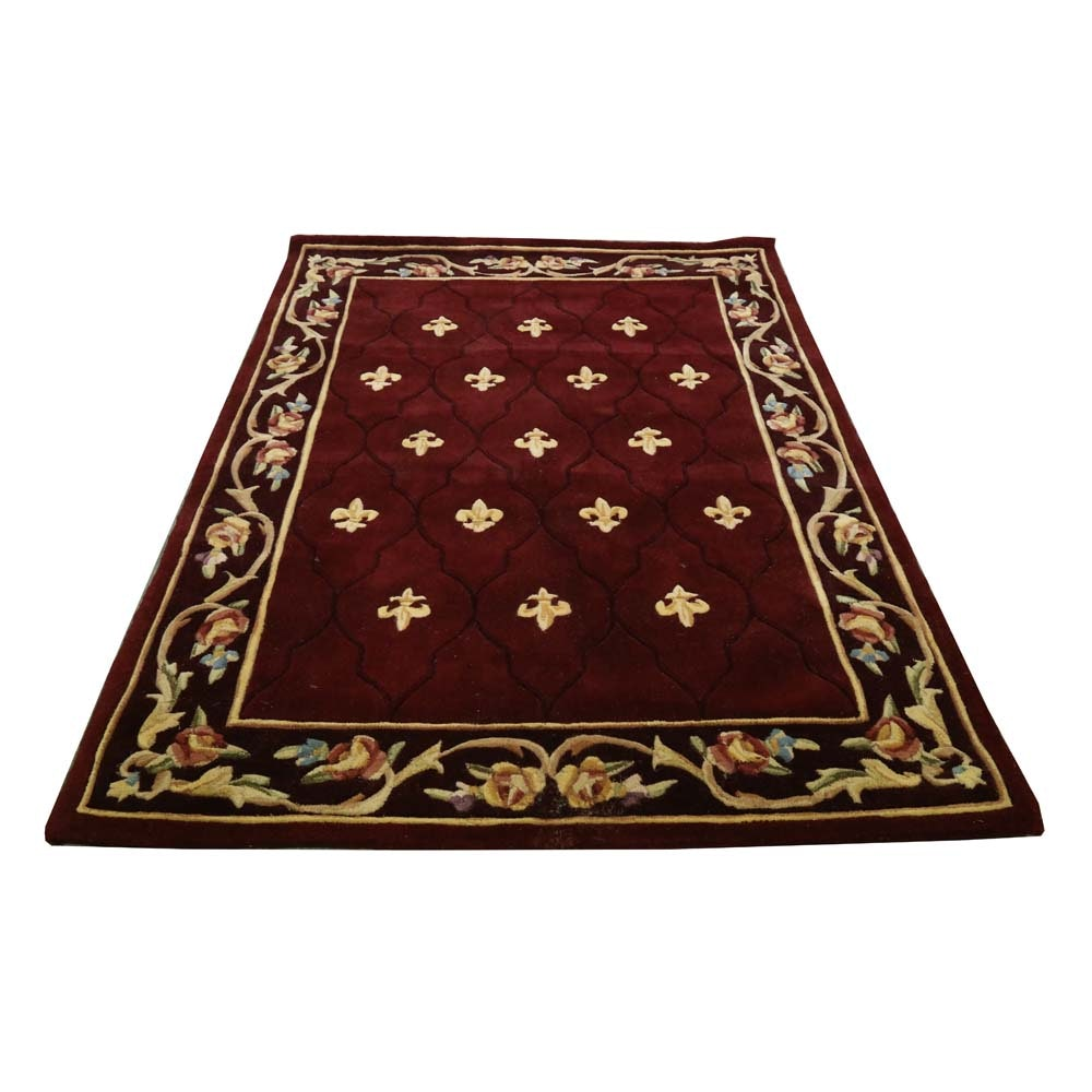 "Royal Palace ""Special Edition ""Fleur de Lis"" Tufted Wool Area Rug"