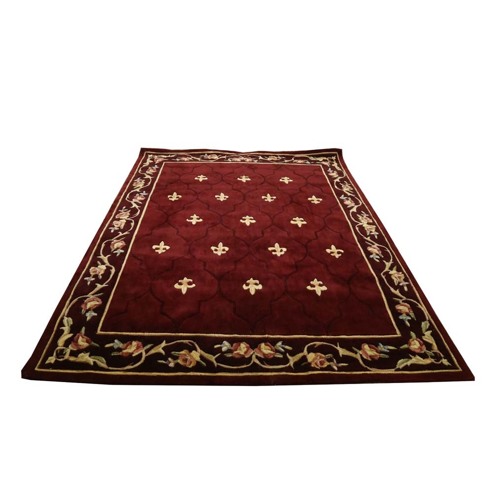 "Royal Palace ""Special Edition Fleur de Lis"" Tufted Wool Area Rug"