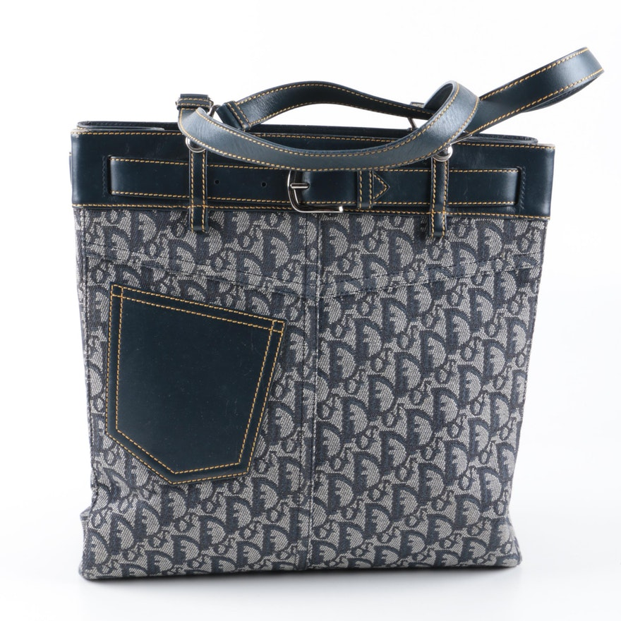 ebfa21b40d18 Christian Dior Monogram Canvas Tote Style Handbag   EBTH