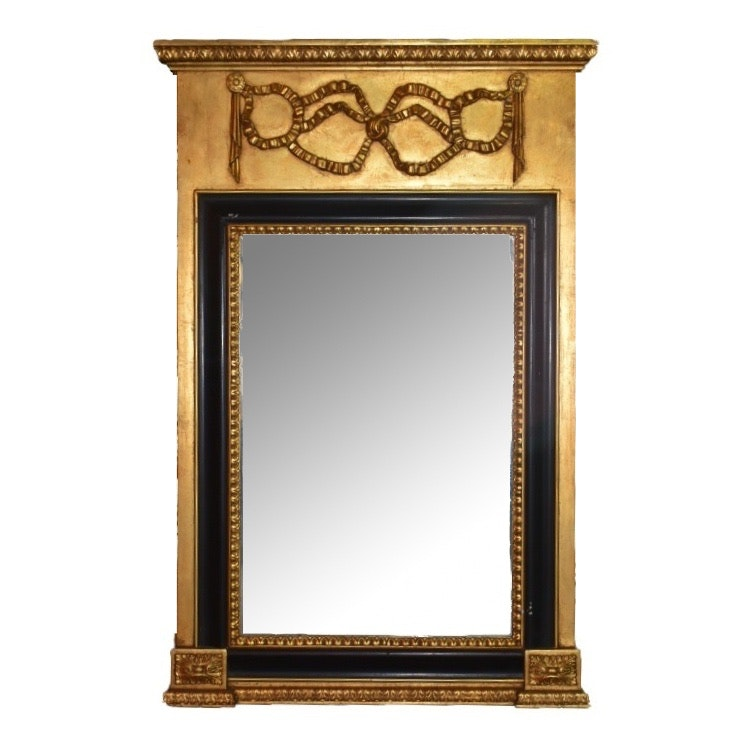 French Style Gilt and Gesso Wall Mirror