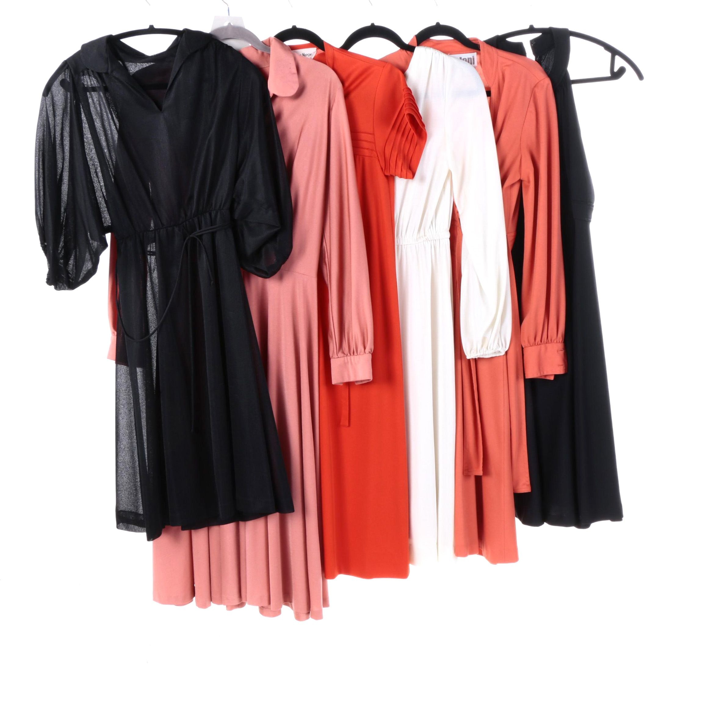 1970s Disco Midi Dresses Including Albert Nipon