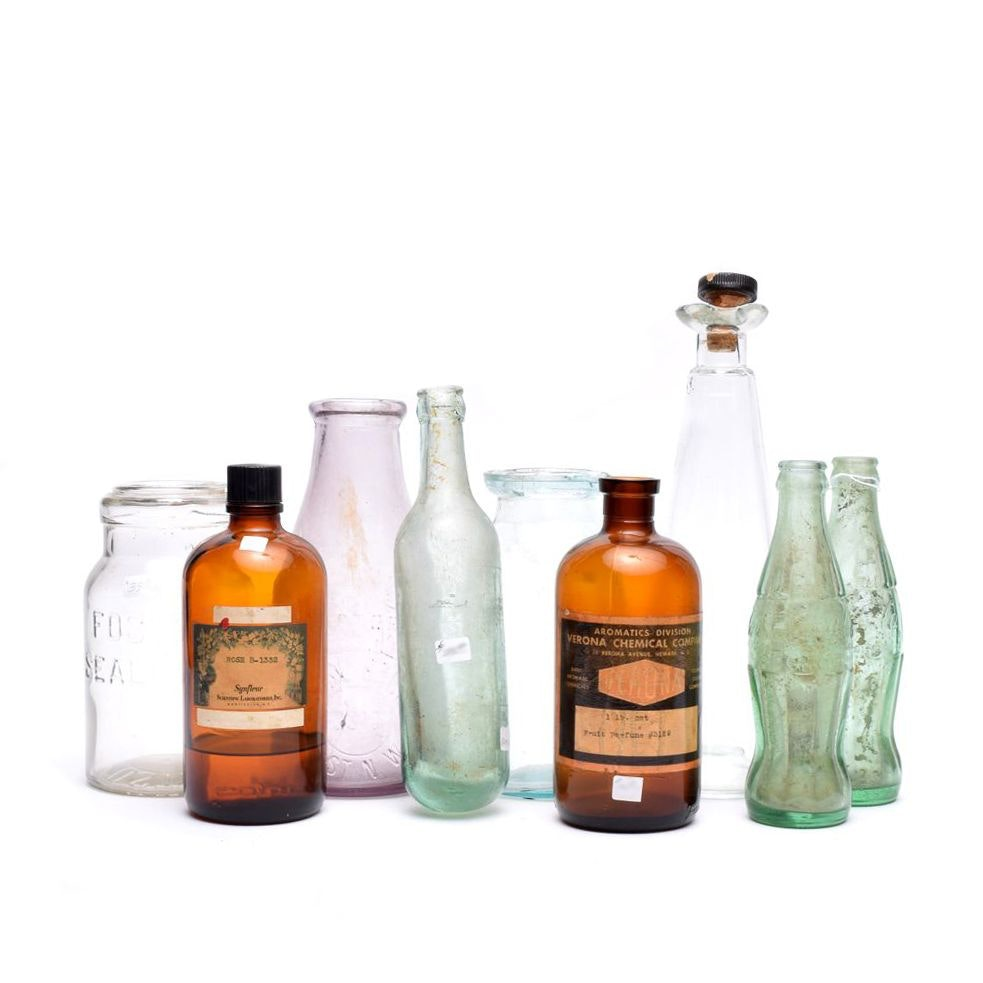 Vintage Apothecary, Coca-Cola and Other Glass Bottles